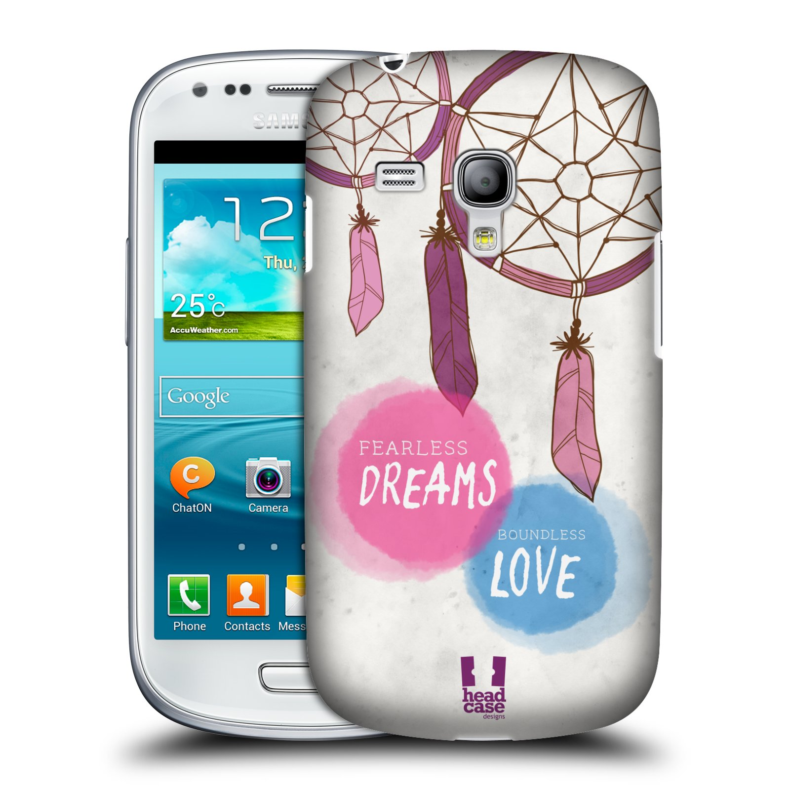 Plastové pouzdro na mobil Samsung Galaxy S III Mini HEAD CASE LAPAČ FEARLESS (Kryt či obal na mobilní telefon Samsung Galaxy S III Mini GT-i8190)