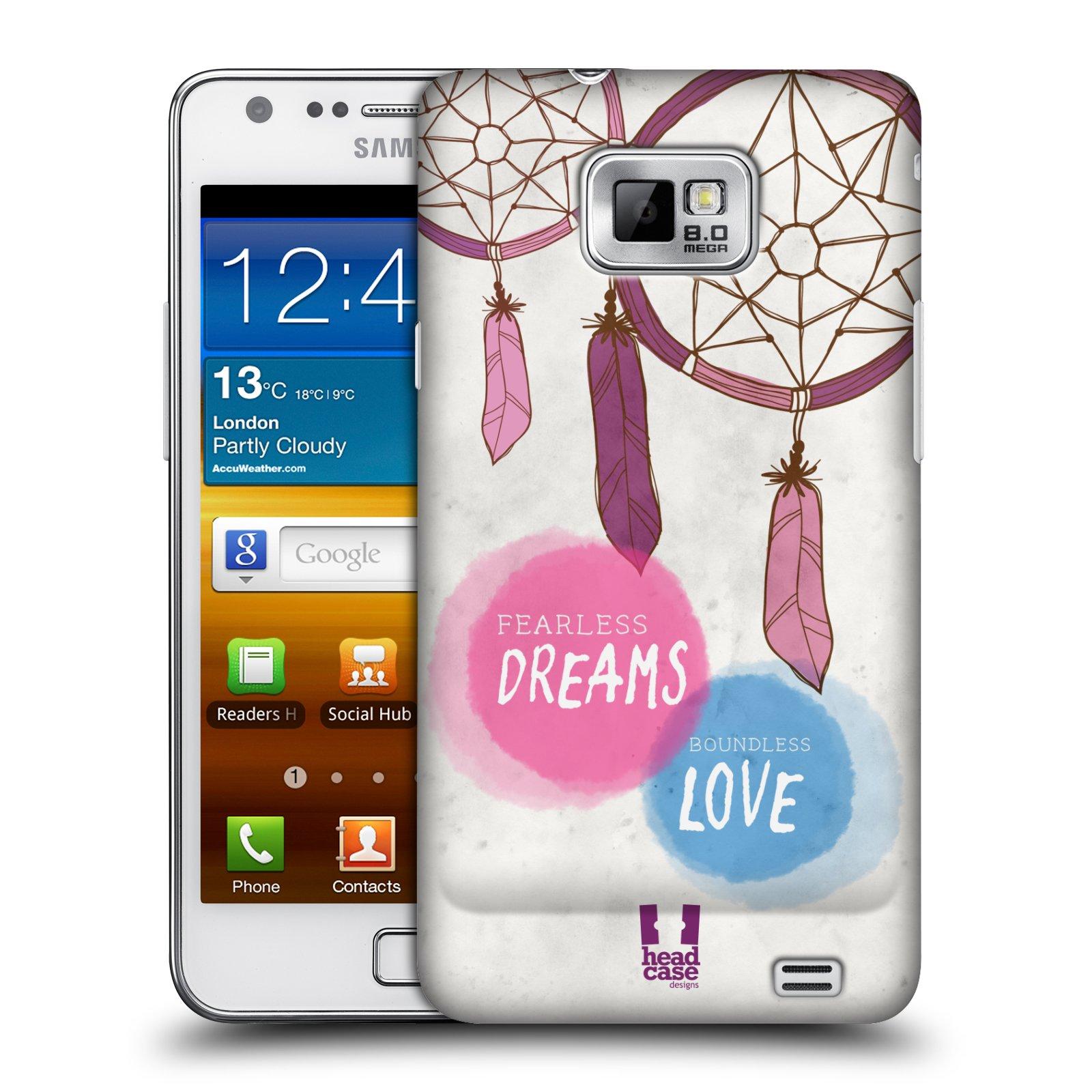 Plastové pouzdro na mobil Samsung Galaxy S II HEAD CASE LAPAČ FEARLESS (Kryt či obal na mobilní telefon Samsung Galaxy S II GT-i9100)