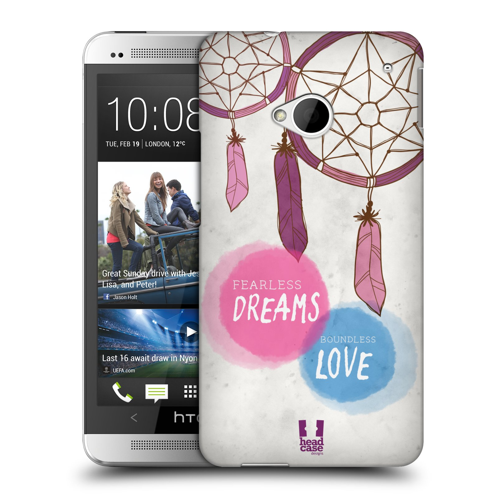 Plastové pouzdro na mobil HTC ONE M7 HEAD CASE LAPAČ FEARLESS (Kryt či obal na mobilní telefon HTC ONE M7)