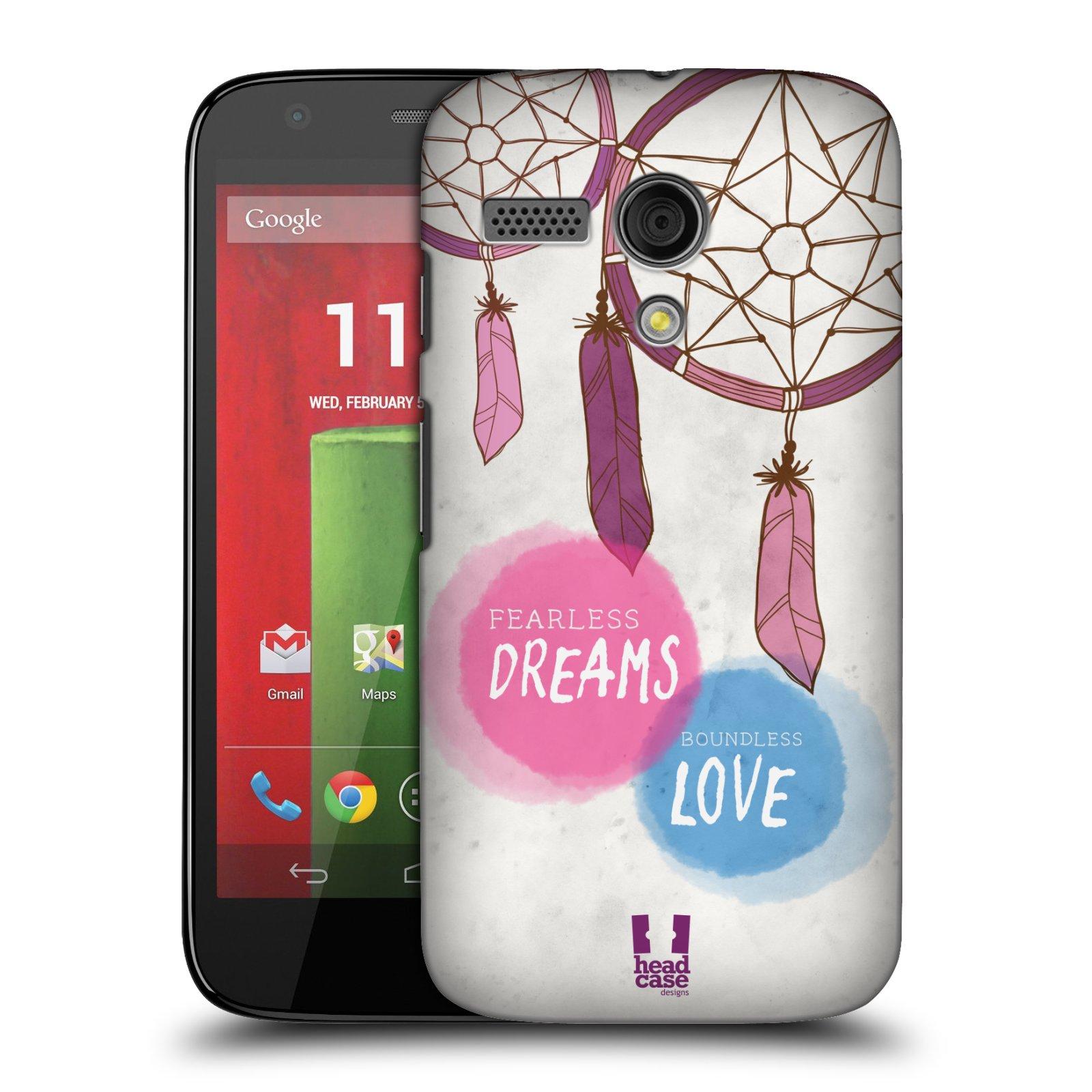 Plastové pouzdro na mobil Motorola Moto G HEAD CASE LAPAČ FEARLESS (Kryt či obal na mobilní telefon Motorola Moto G)