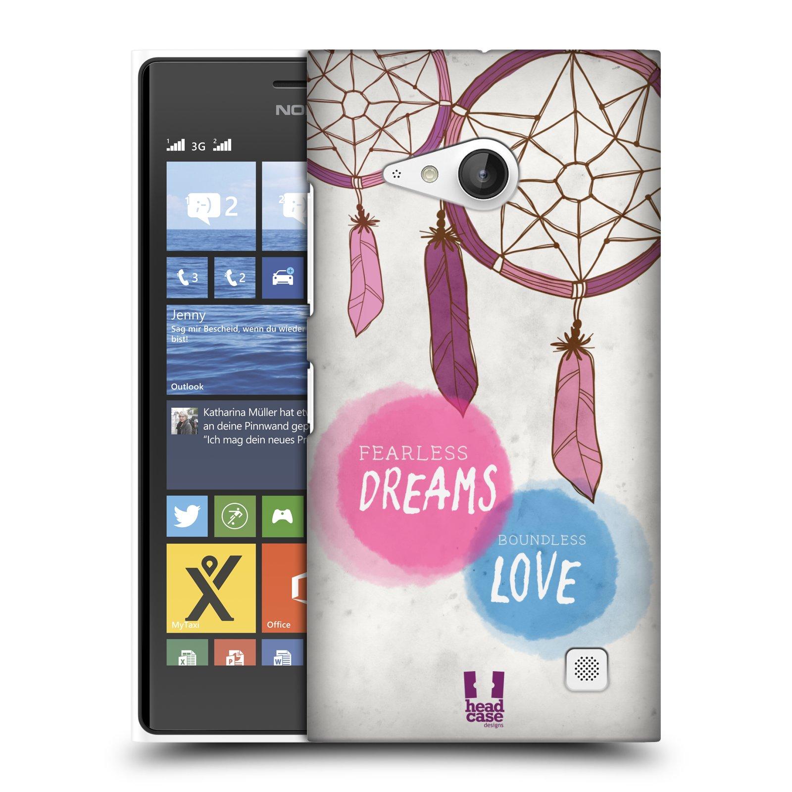 Plastové pouzdro na mobil Nokia Lumia 735 HEAD CASE LAPAČ FEARLESS (Kryt či obal na mobilní telefon Nokia Lumia 735)