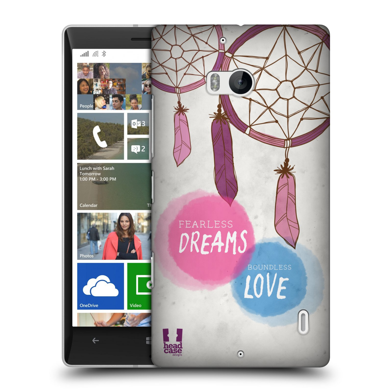 Plastové pouzdro na mobil Nokia Lumia 930 HEAD CASE LAPAČ FEARLESS (Kryt či obal na mobilní telefon Nokia Lumia 930)