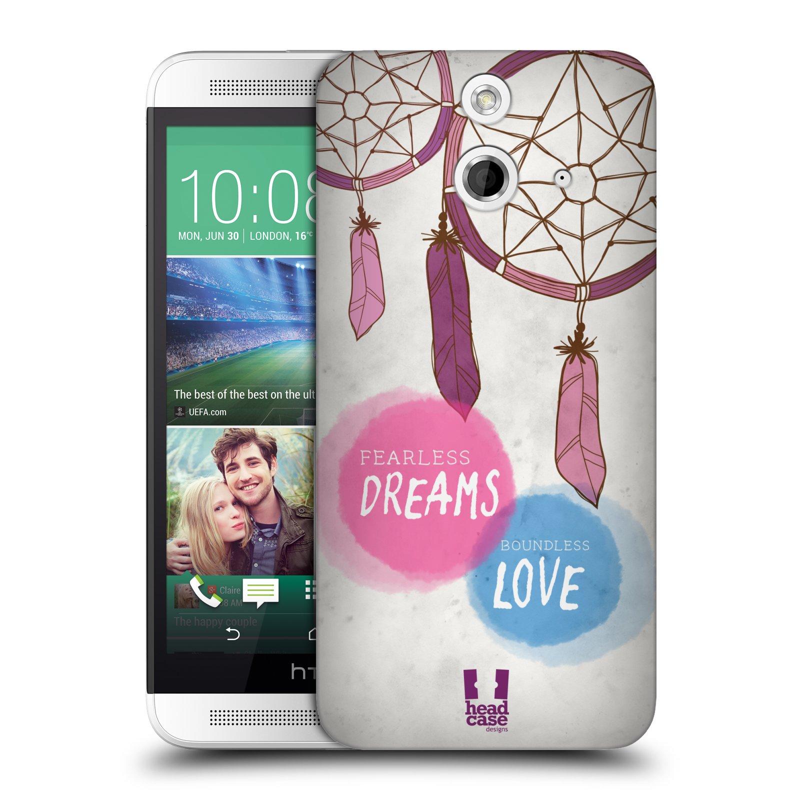 Plastové pouzdro na mobil HTC ONE E8 HEAD CASE LAPAČ FEARLESS (Kryt či obal na mobilní telefon HTC ONE E8)