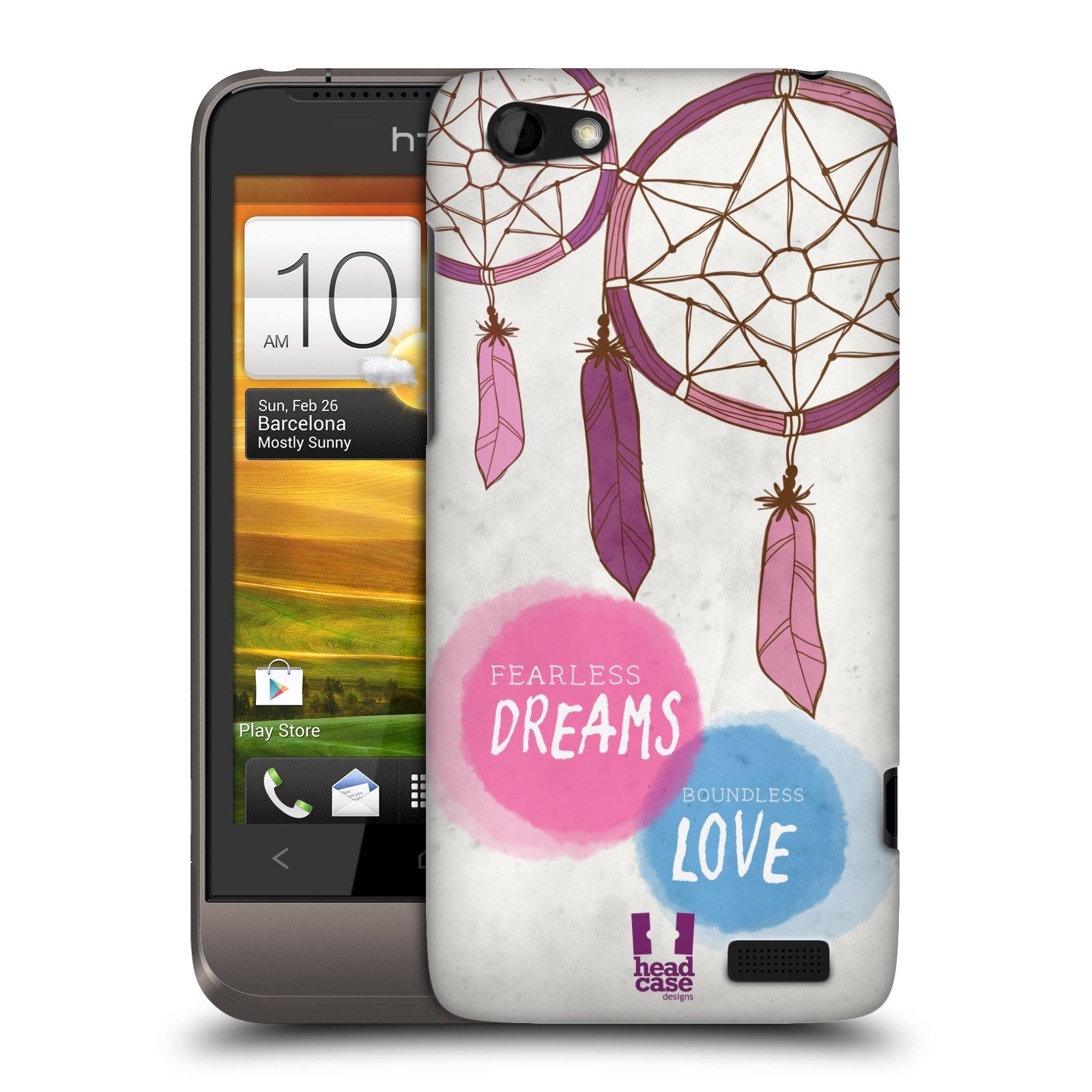 Plastové pouzdro na mobil HTC ONE V HEAD CASE LAPAČ FEARLESS (Kryt či obal na mobilní telefon HTC ONE V)