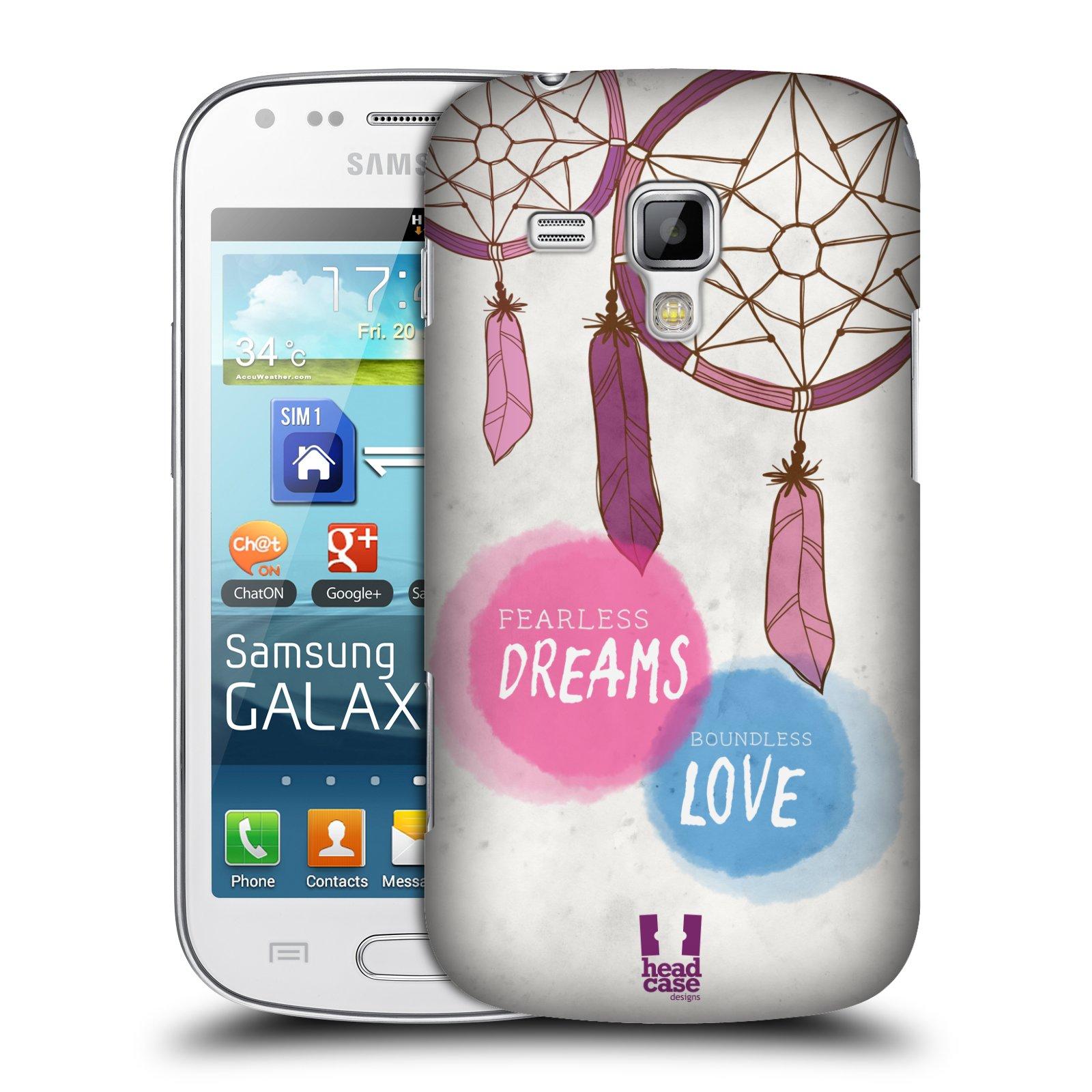 Plastové pouzdro na mobil Samsung Galaxy S Duos HEAD CASE LAPAČ FEARLESS (Kryt či obal na mobilní telefon Samsung Galaxy S Duos GT-S7562)