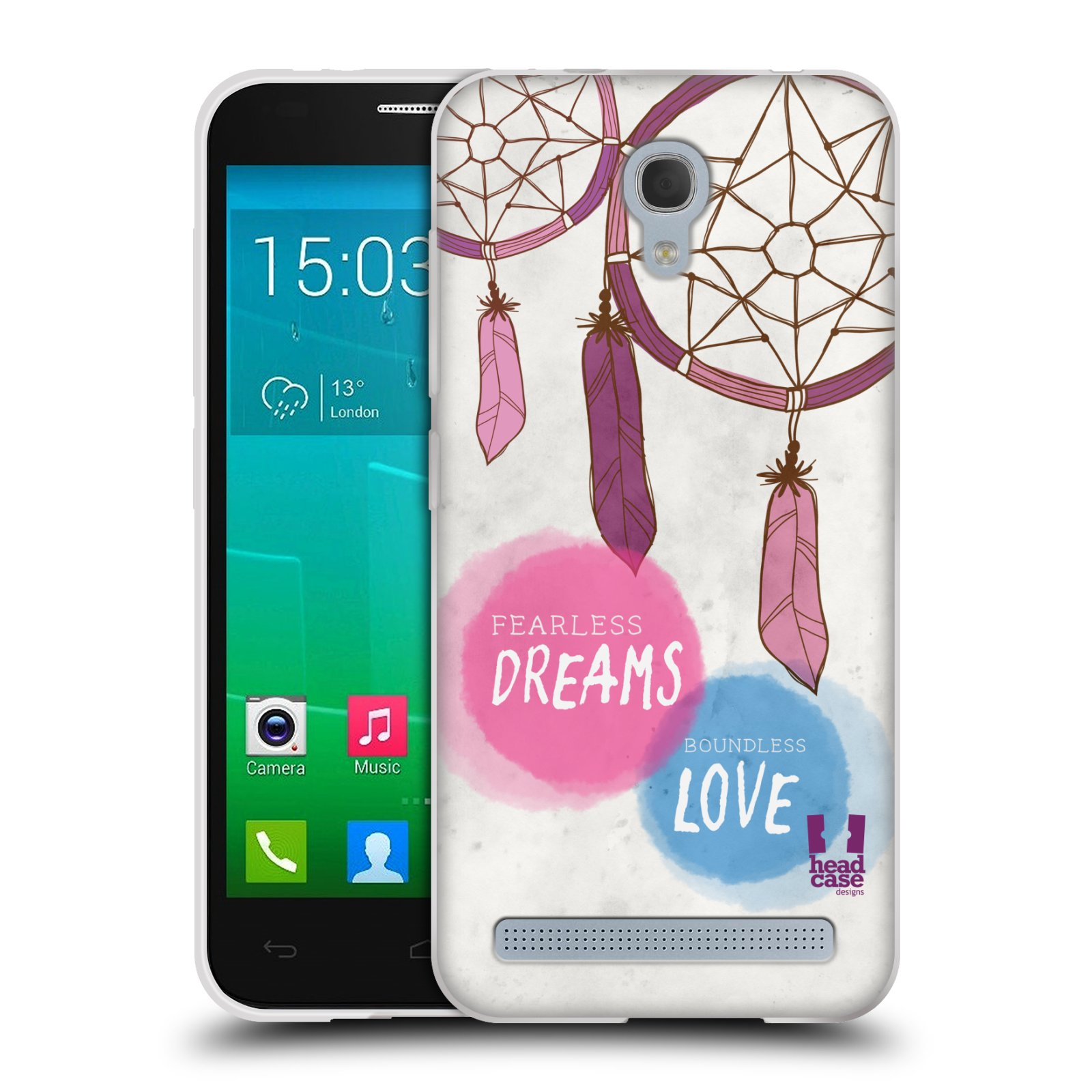 Silikonové pouzdro na mobil Alcatel One Touch Idol 2 Mini S 6036Y HEAD CASE LAPAČ FEARLESS (Silikonový kryt či obal na mobilní telefon Alcatel Idol 2 Mini S OT-6036Y)