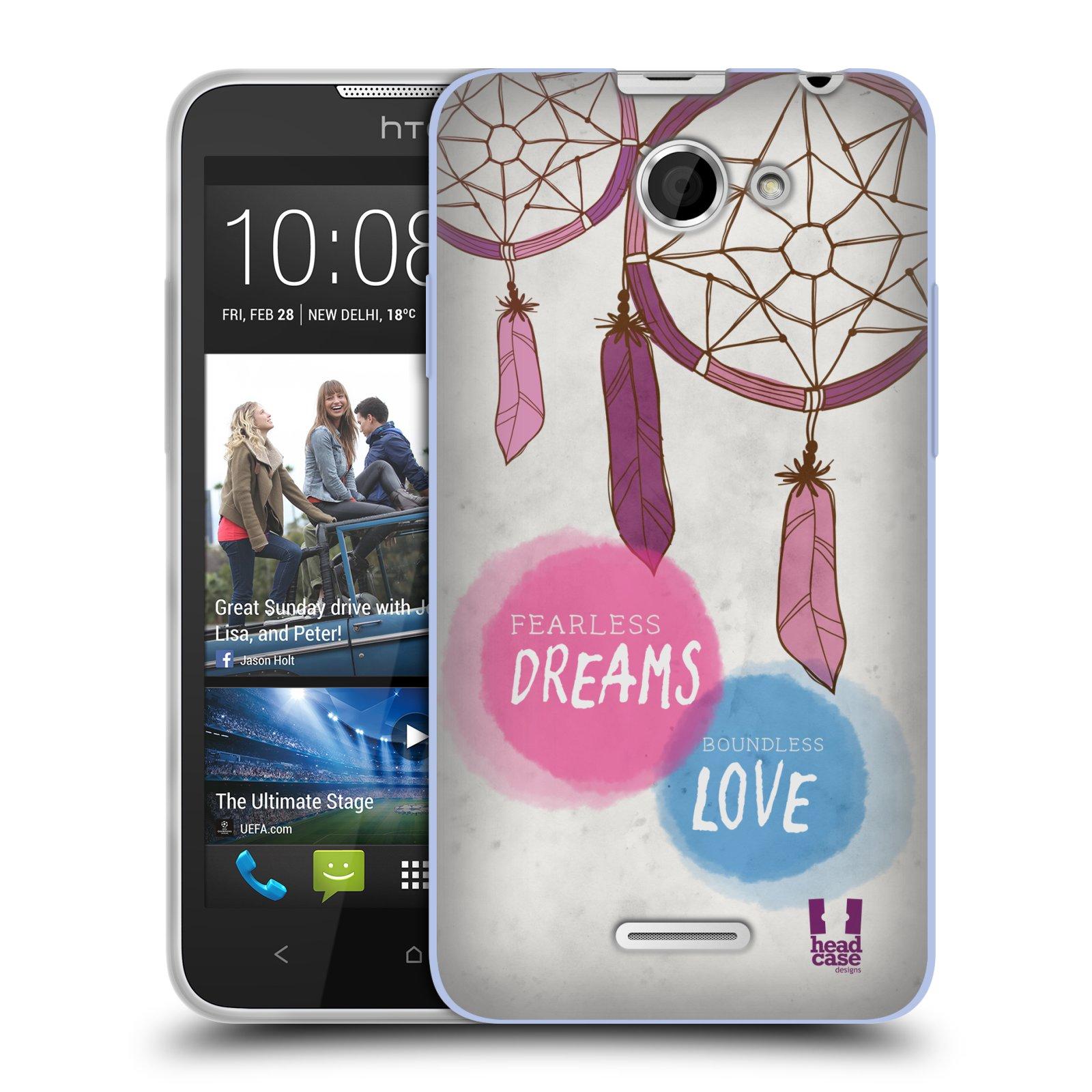 Silikonové pouzdro na mobil HTC Desire 516 HEAD CASE LAPAČ FEARLESS (Silikonový kryt či obal na mobilní telefon HTC Desire 516 Dual SIM)