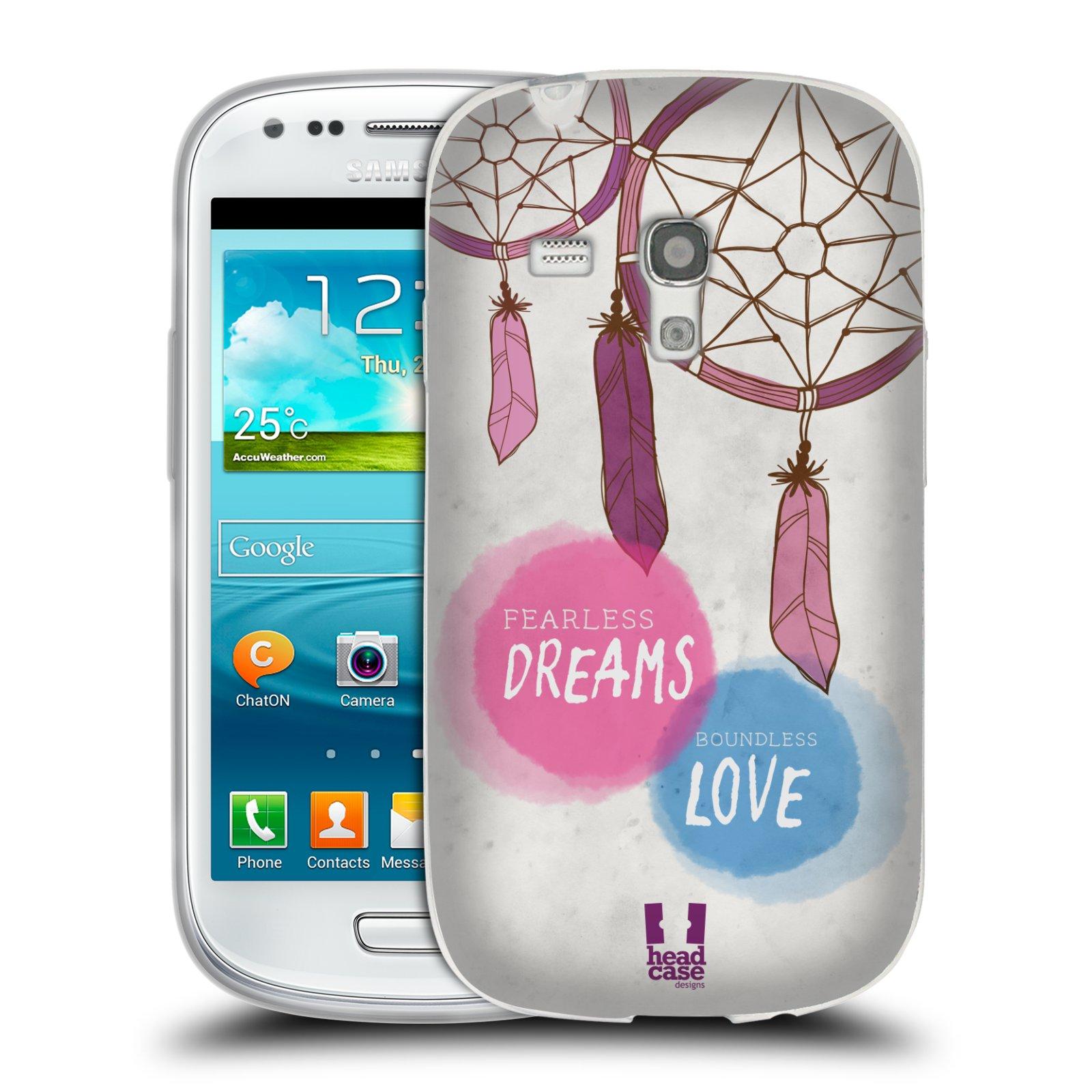 Silikonové pouzdro na mobil Samsung Galaxy S III Mini HEAD CASE LAPAČ FEARLESS (Silikonový kryt či obal na mobilní telefon Samsung Galaxy S III Mini GT-i8190)