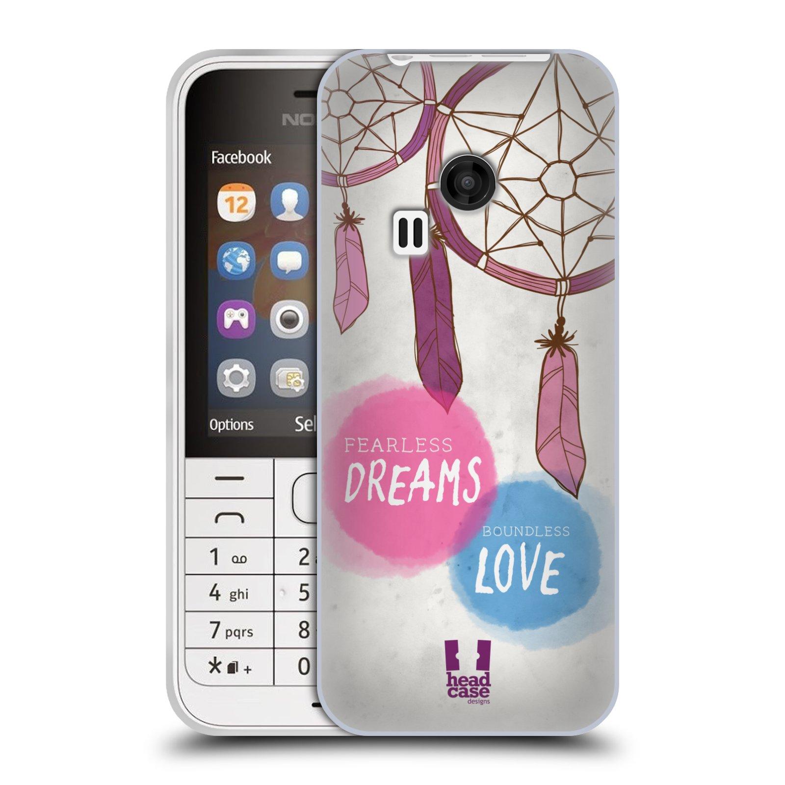 Silikonové pouzdro na mobil Nokia 220 HEAD CASE LAPAČ FEARLESS (Silikonový kryt či obal na mobilní telefon Nokia 220 a 220 Dual SIM)