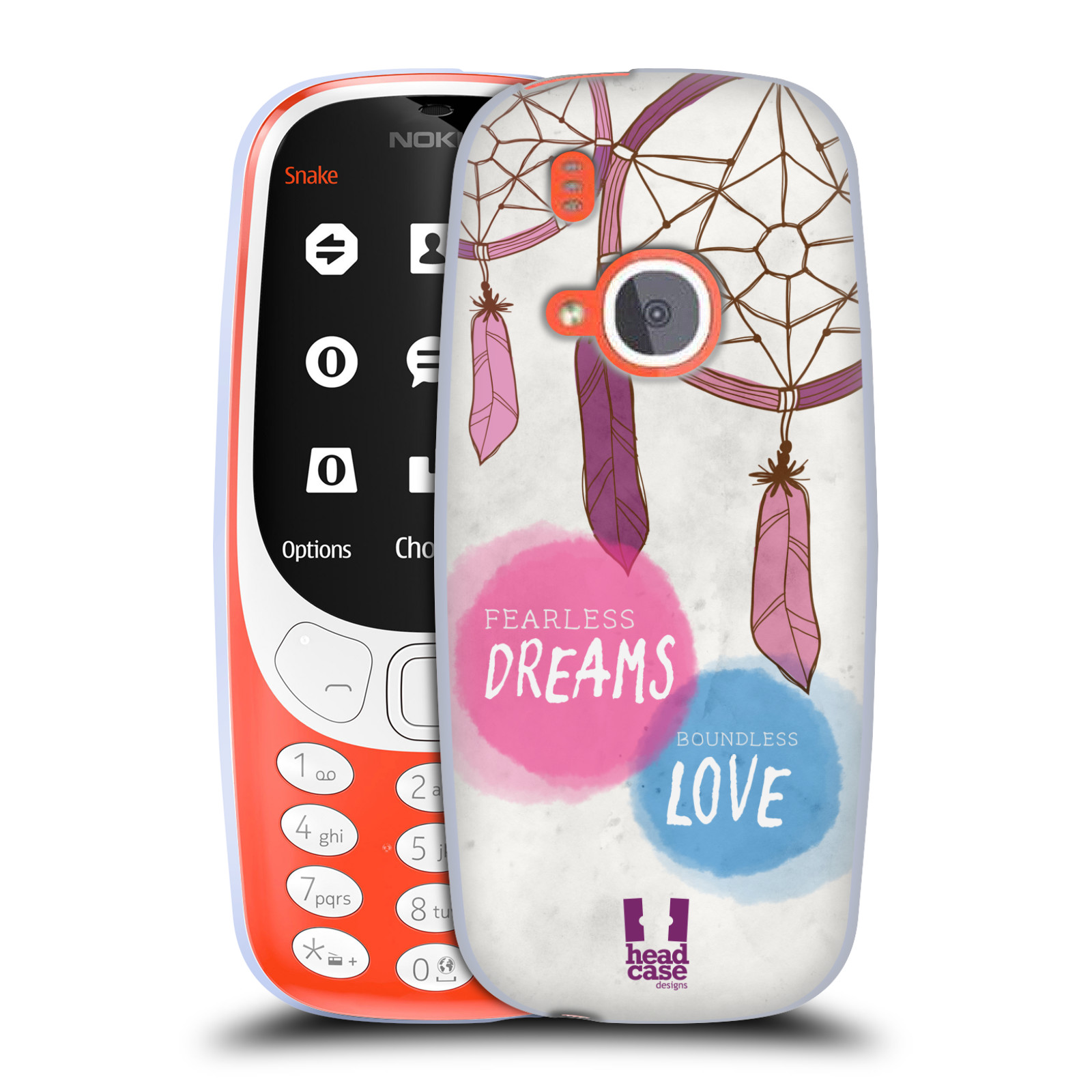 Silikonové pouzdro na mobil Nokia 3310 - Head Case - LAPAČ FEARLESS (Silikonový kryt či obal na mobilní telefon Nokia 3310 (2017) s motivem LAPAČ FEARLESS)