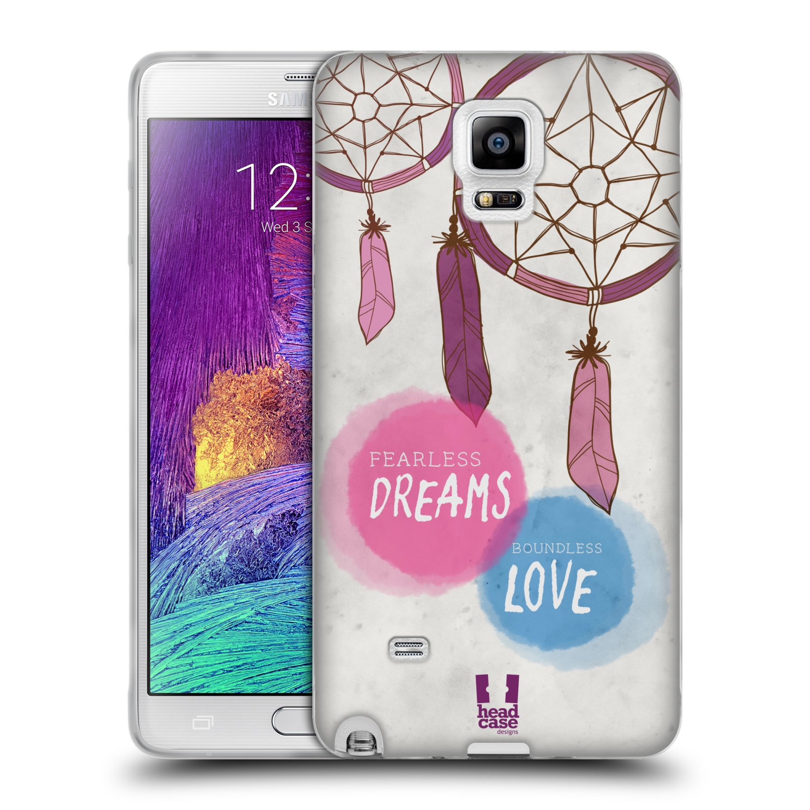 Silikonové pouzdro na mobil Samsung Galaxy Note 4 HEAD CASE LAPAČ FEARLESS (Silikonový kryt či obal na mobilní telefon Samsung Galaxy Note 4 SM-N910F)