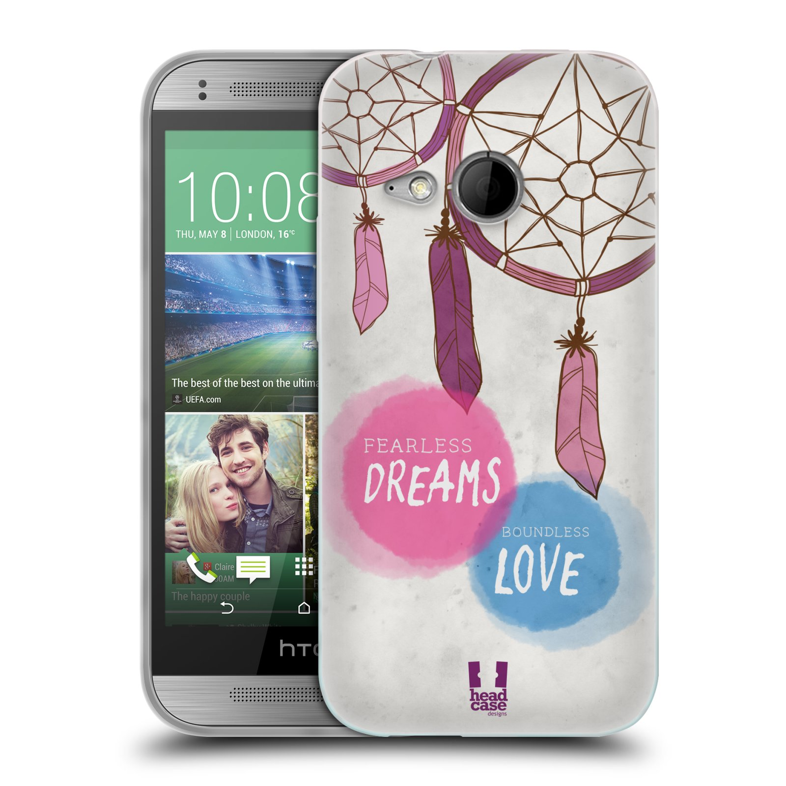 Silikonové pouzdro na mobil HTC ONE Mini 2 HEAD CASE LAPAČ FEARLESS (Silikonový kryt či obal na mobilní telefon HTC ONE Mini 2)