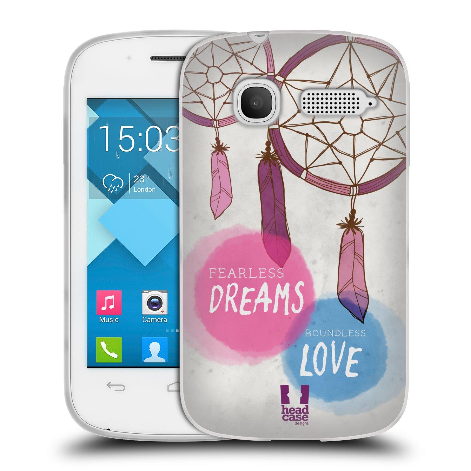 Silikonové pouzdro na mobil Alcatel One Touch Pop C1 HEAD CASE LAPAČ FEARLESS (Silikonový kryt či obal na mobilní telefon Alcatel OT-4015D POP C1)