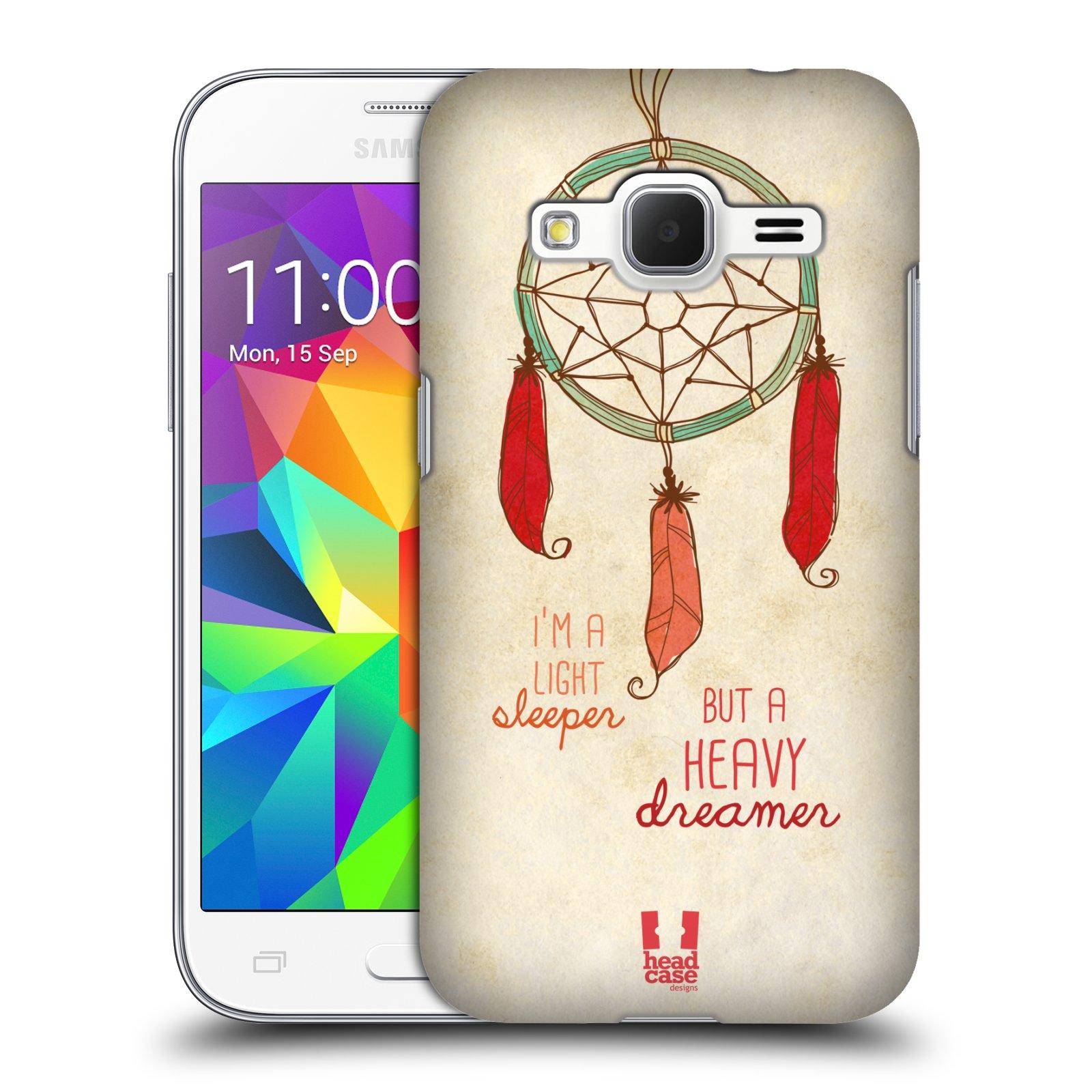Plastové pouzdro na mobil Samsung Galaxy Core Prime LTE HEAD CASE LAPAČ HEAVY DREAMER (Kryt či obal na mobilní telefon Samsung Galaxy Core Prime LTE SM-G360)