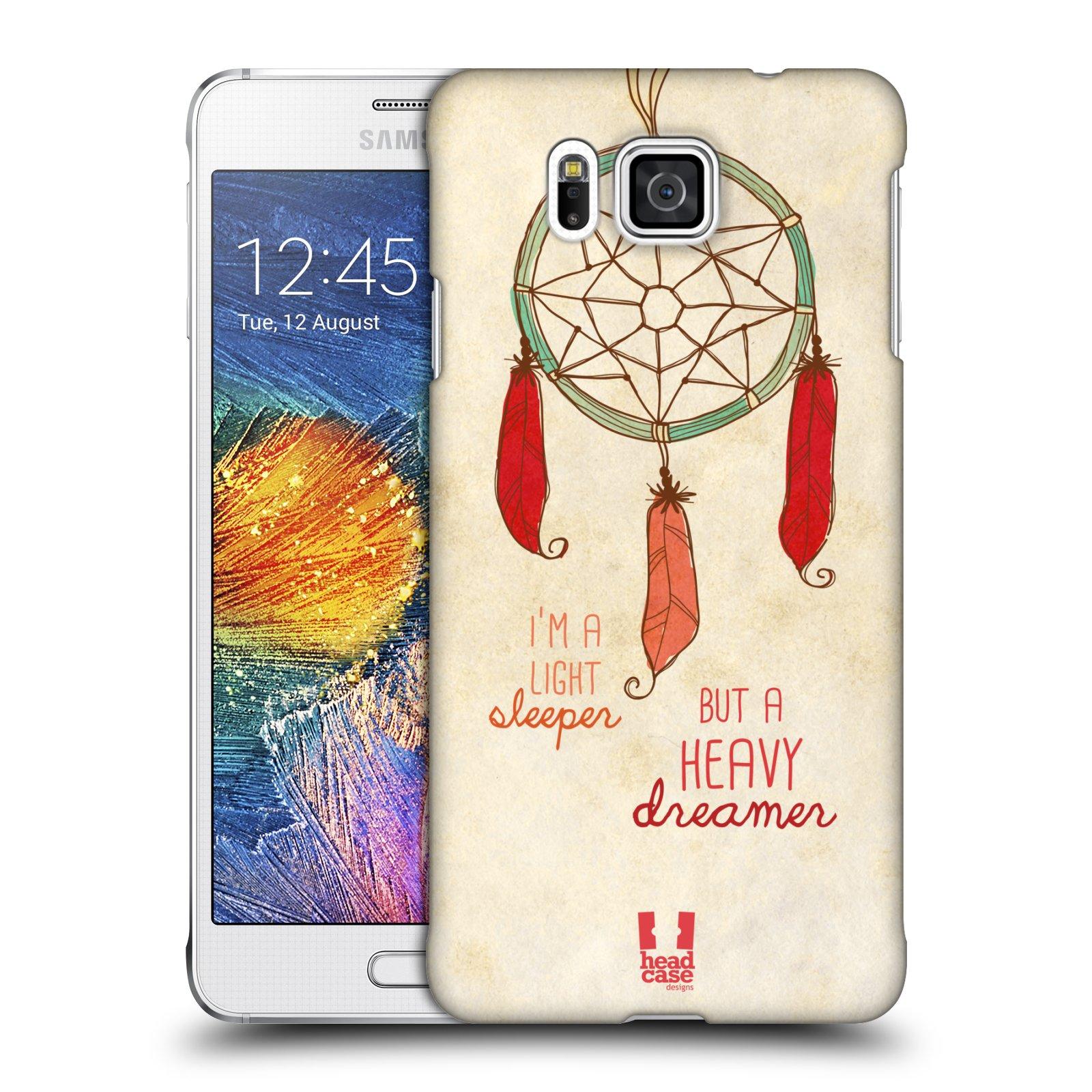 Plastové pouzdro na mobil Samsung Galaxy Alpha HEAD CASE LAPAČ HEAVY DREAMER (Kryt či obal na mobilní telefon Samsung Galaxy Alpha SM-G850)