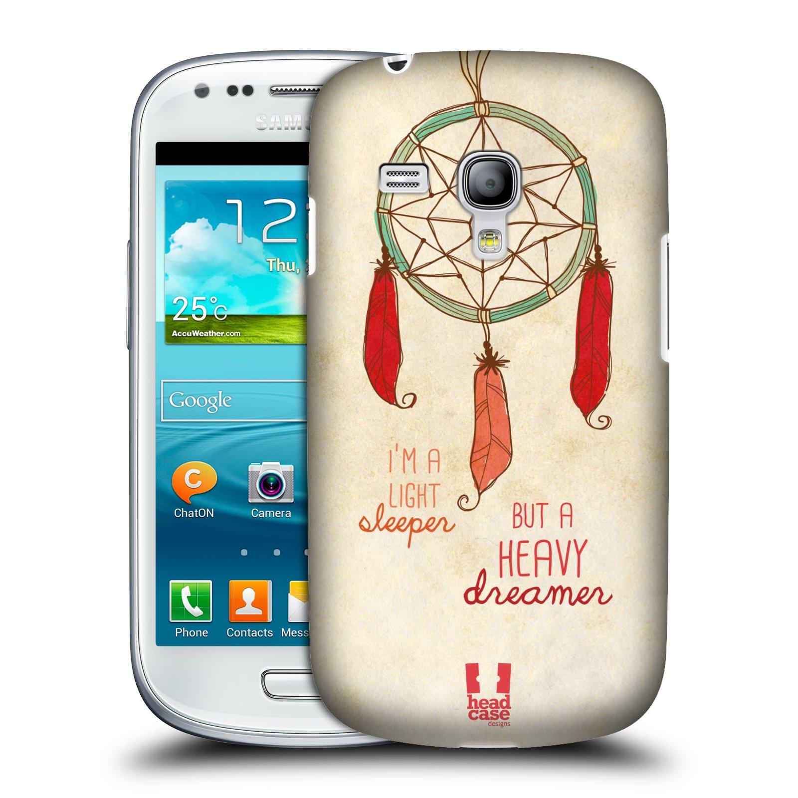 Plastové pouzdro na mobil Samsung Galaxy S III Mini HEAD CASE LAPAČ HEAVY DREAMER (Kryt či obal na mobilní telefon Samsung Galaxy S III Mini GT-i8190)