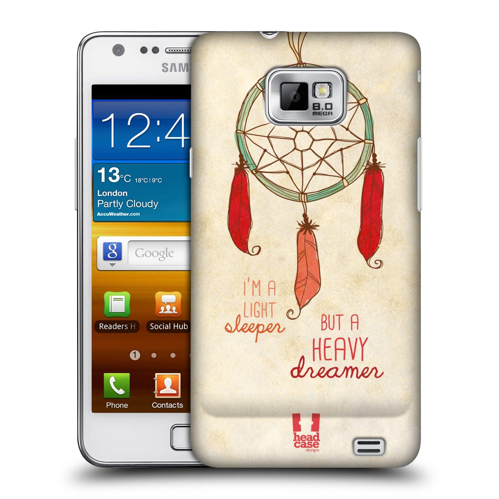 Plastové pouzdro na mobil Samsung Galaxy S II HEAD CASE LAPAČ HEAVY DREAMER (Kryt či obal na mobilní telefon Samsung Galaxy S II GT-i9100)