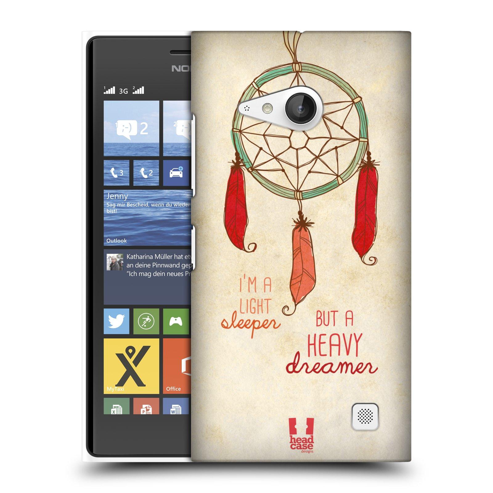 Plastové pouzdro na mobil Nokia Lumia 730 Dual SIM HEAD CASE LAPAČ HEAVY DREAMER (Kryt či obal na mobilní telefon Nokia Lumia 730 Dual SIM)