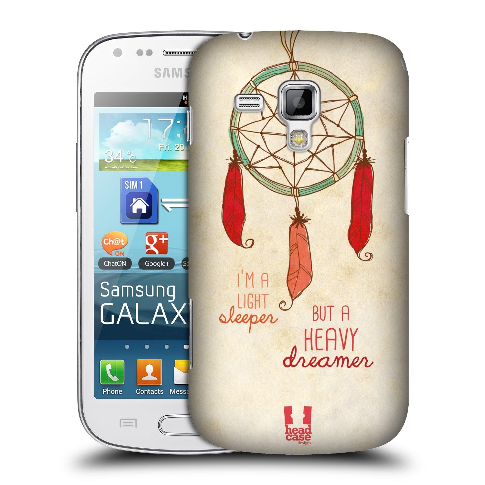 Plastové pouzdro na mobil Samsung Galaxy S Duos HEAD CASE LAPAČ HEAVY DREAMER (Kryt či obal na mobilní telefon Samsung Galaxy S Duos GT-S7562)