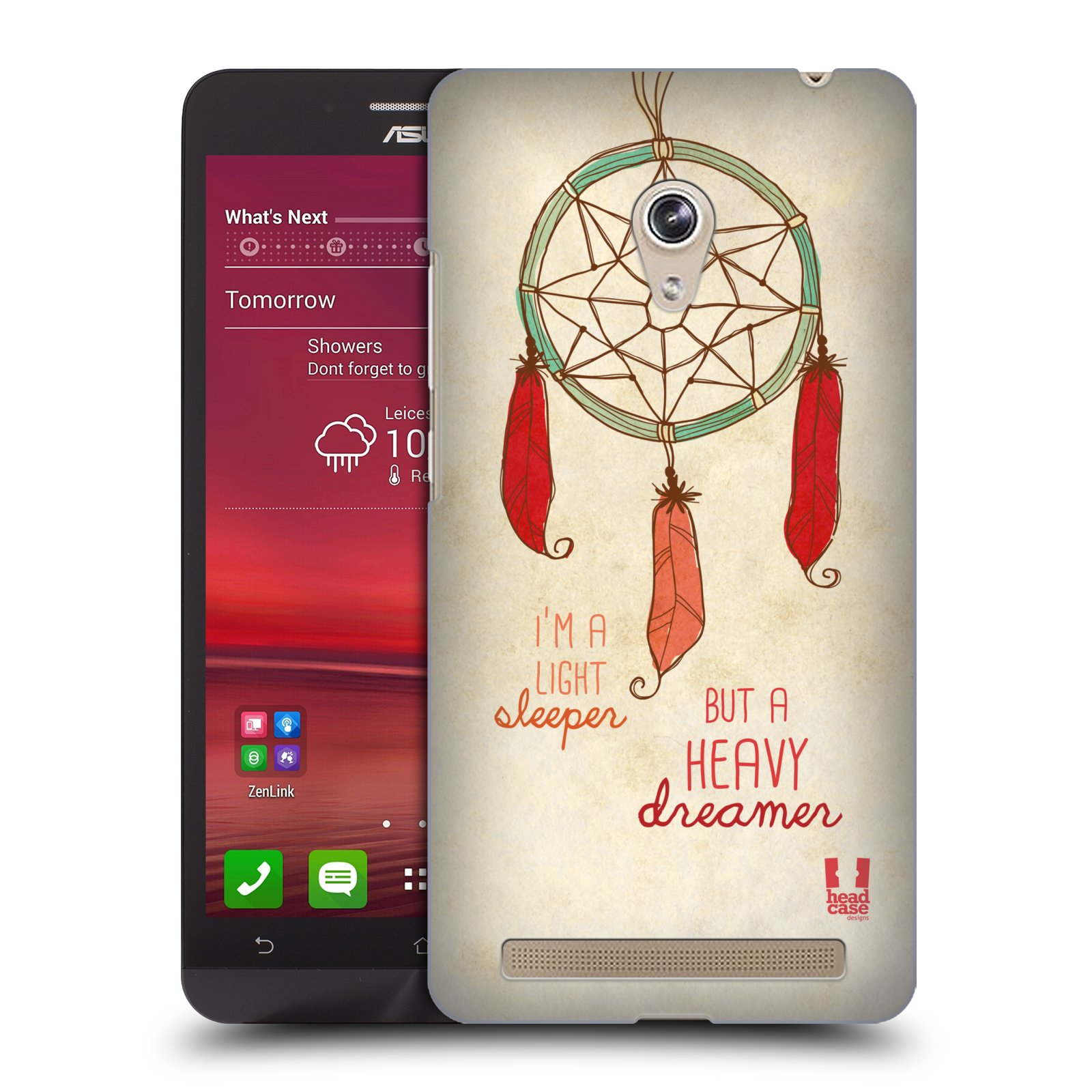 Plastové pouzdro na mobil Asus Zenfone 6 HEAD CASE LAPAČ HEAVY DREAMER (Kryt či obal na mobilní telefon Asus Zenfone 6 A600CG / A601CG)