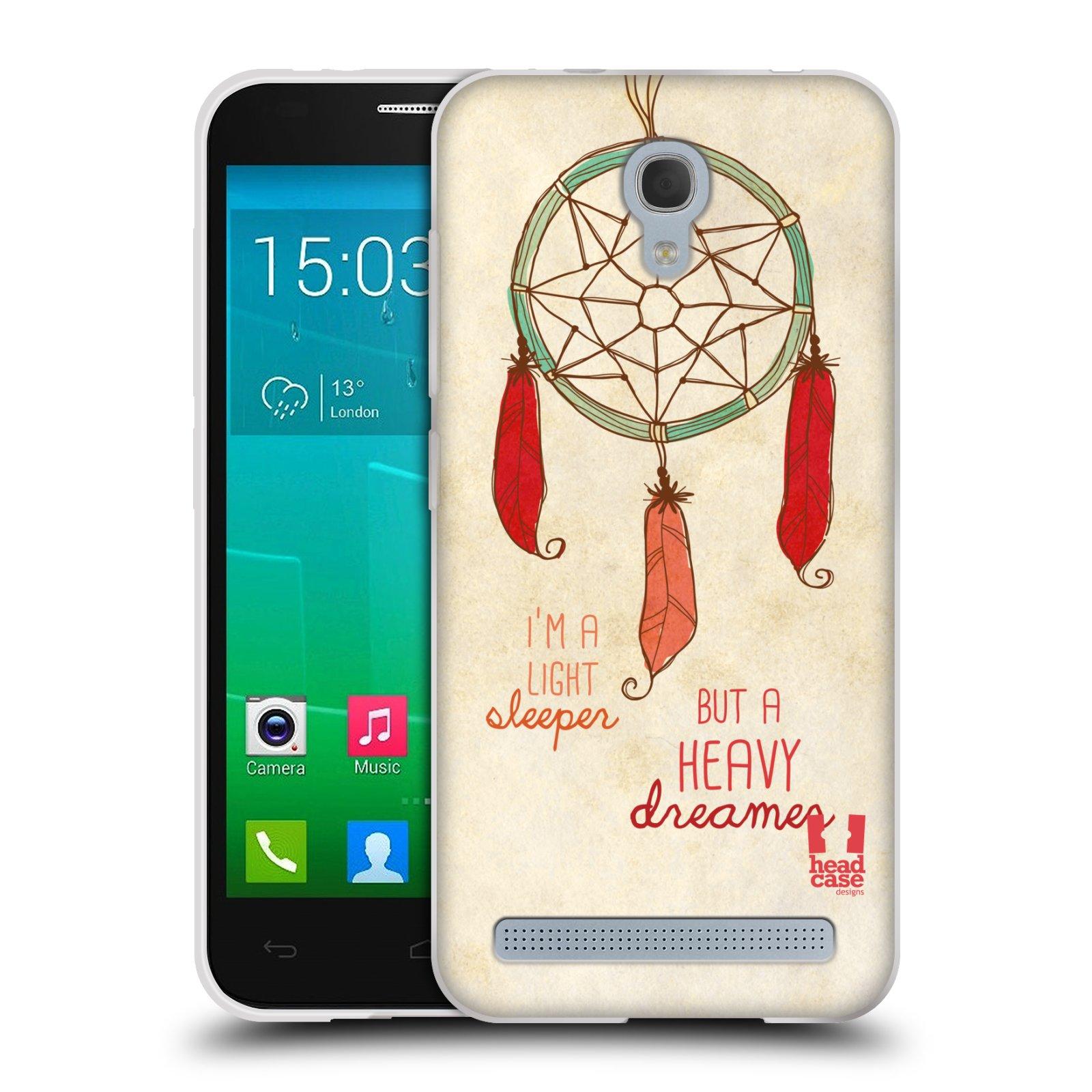 Silikonové pouzdro na mobil Alcatel One Touch Idol 2 Mini S 6036Y HEAD CASE LAPAČ HEAVY DREAMER (Silikonový kryt či obal na mobilní telefon Alcatel Idol 2 Mini S OT-6036Y)