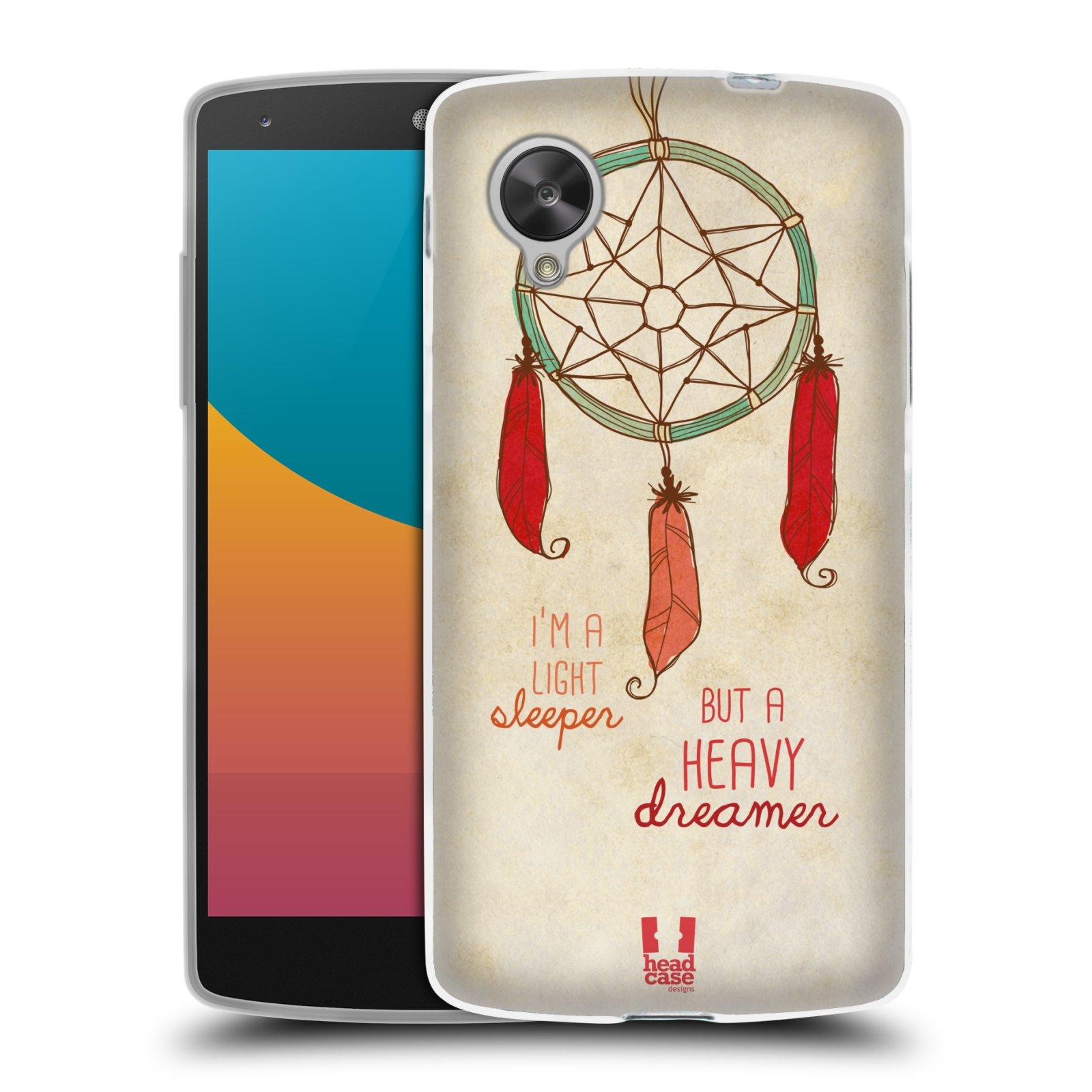 Silikonové pouzdro na mobil LG Nexus 5 HEAD CASE LAPAČ HEAVY DREAMER (Silikonový kryt či obal na mobilní telefon LG Google Nexus 5 D821)