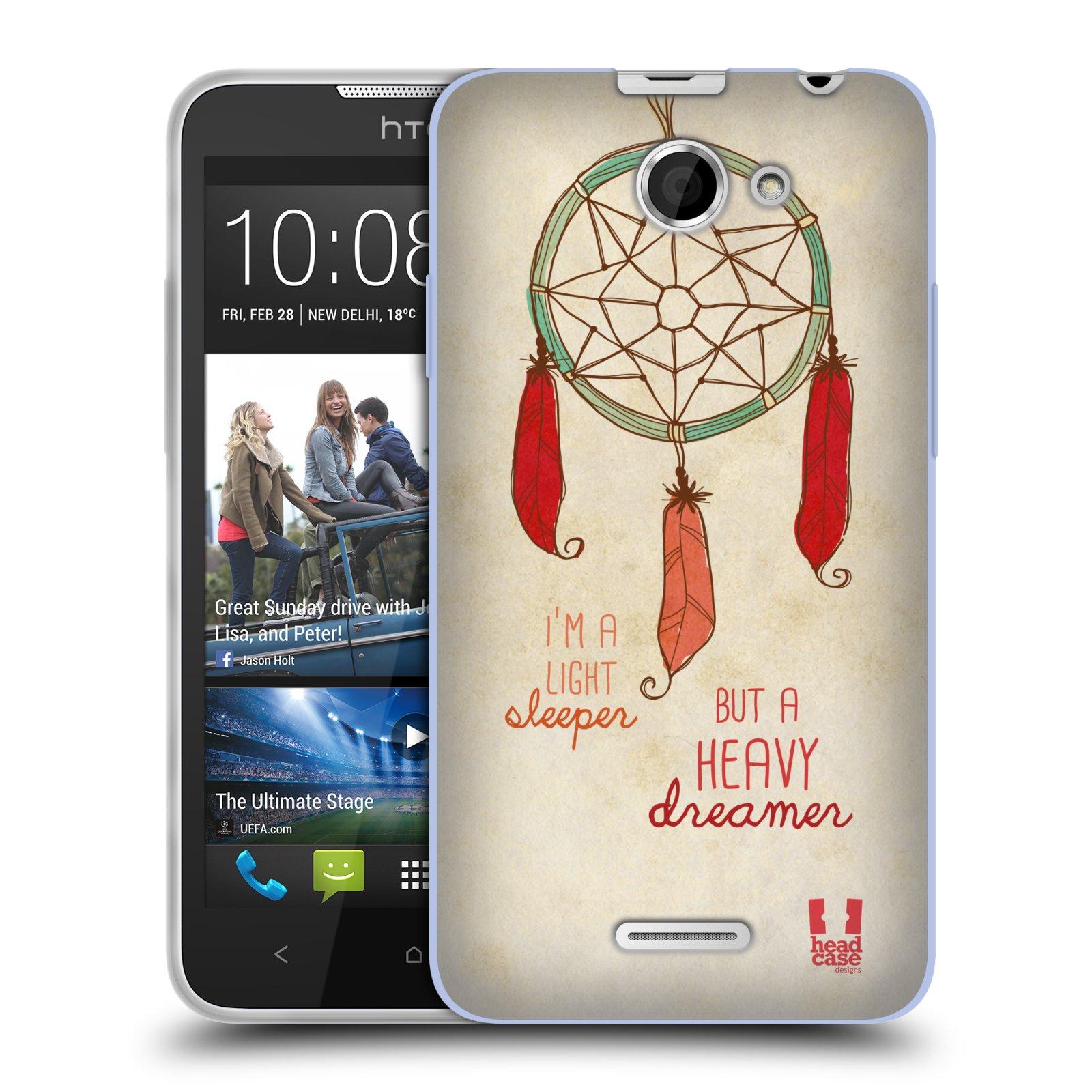 Silikonové pouzdro na mobil HTC Desire 516 HEAD CASE LAPAČ HEAVY DREAMER (Silikonový kryt či obal na mobilní telefon HTC Desire 516 Dual SIM)