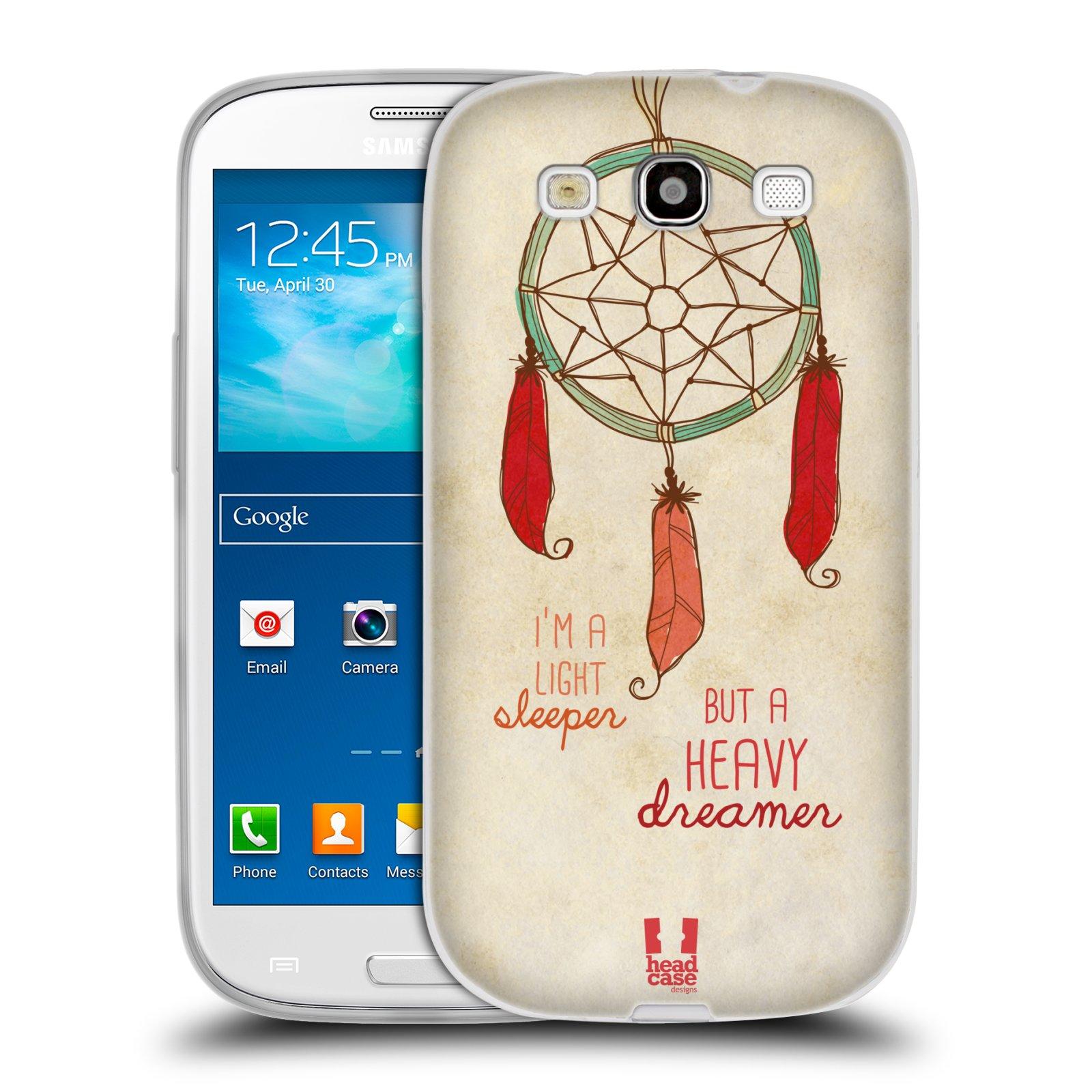 Silikonové pouzdro na mobil Samsung Galaxy S3 Neo HEAD CASE LAPAČ HEAVY DREAMER (Silikonový kryt či obal na mobilní telefon Samsung Galaxy S3 Neo GT-i9301i)