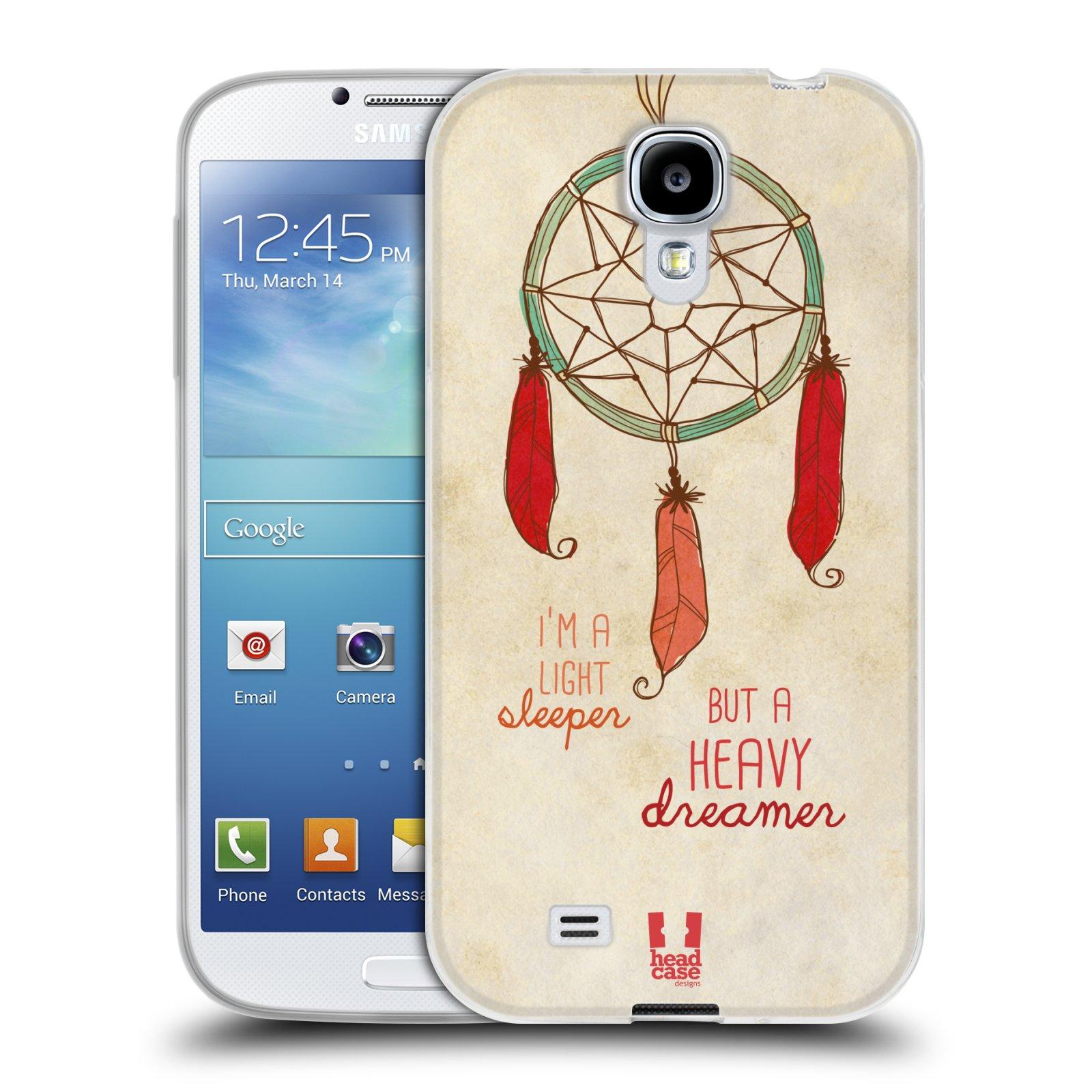 Silikonové pouzdro na mobil Samsung Galaxy S4 HEAD CASE LAPAČ HEAVY DREAMER (Silikonový kryt či obal na mobilní telefon Samsung Galaxy S4 GT-i9505 / i9500)