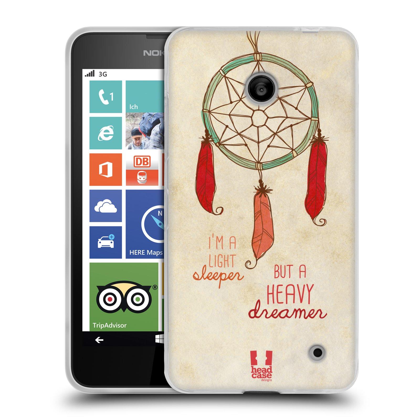 Silikonové pouzdro na mobil Nokia Lumia 630 HEAD CASE LAPAČ HEAVY DREAMER (Silikonový kryt či obal na mobilní telefon Nokia Lumia 630 a Nokia Lumia 630 Dual SIM)