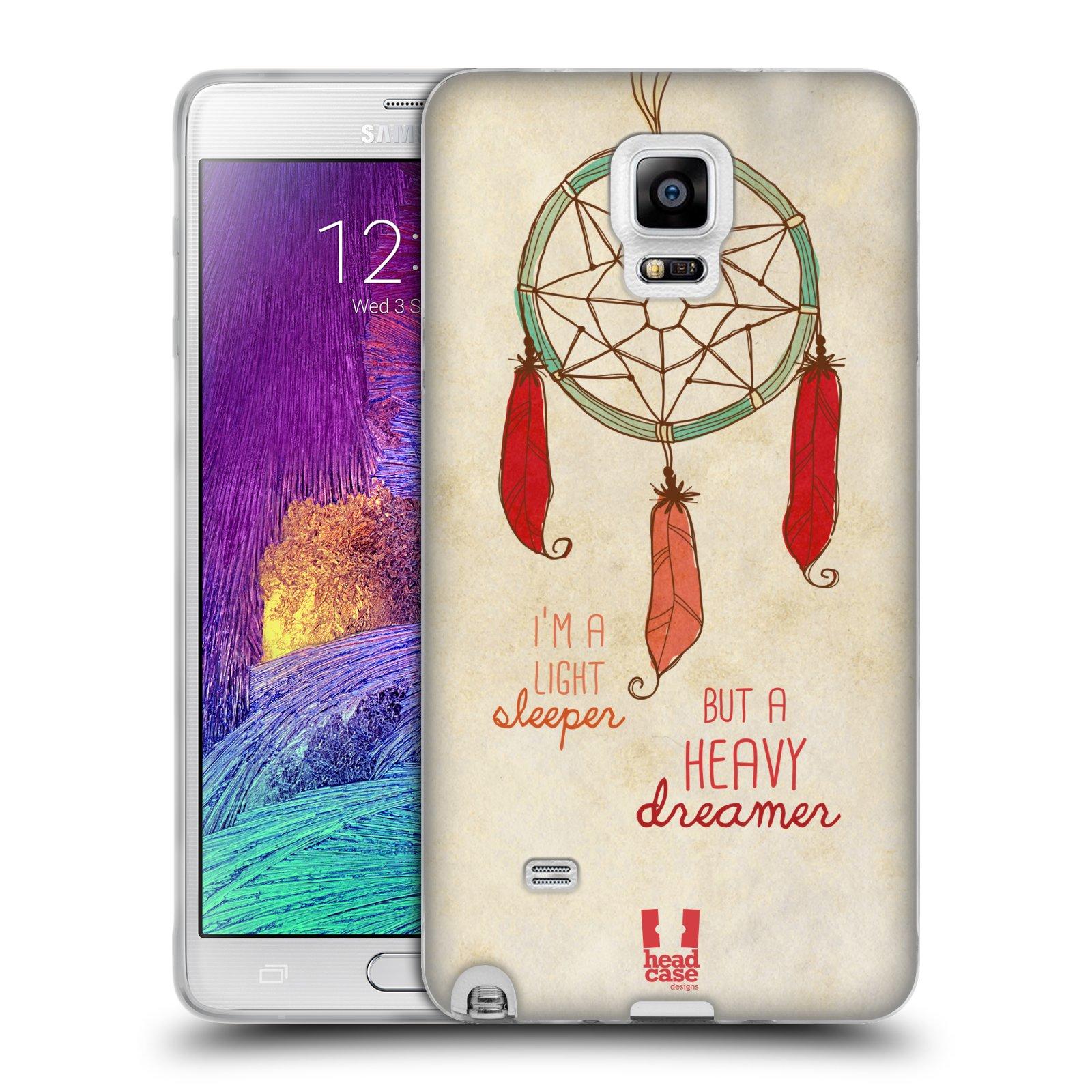 Silikonové pouzdro na mobil Samsung Galaxy Note 4 HEAD CASE LAPAČ HEAVY DREAMER (Silikonový kryt či obal na mobilní telefon Samsung Galaxy Note 4 SM-N910F)