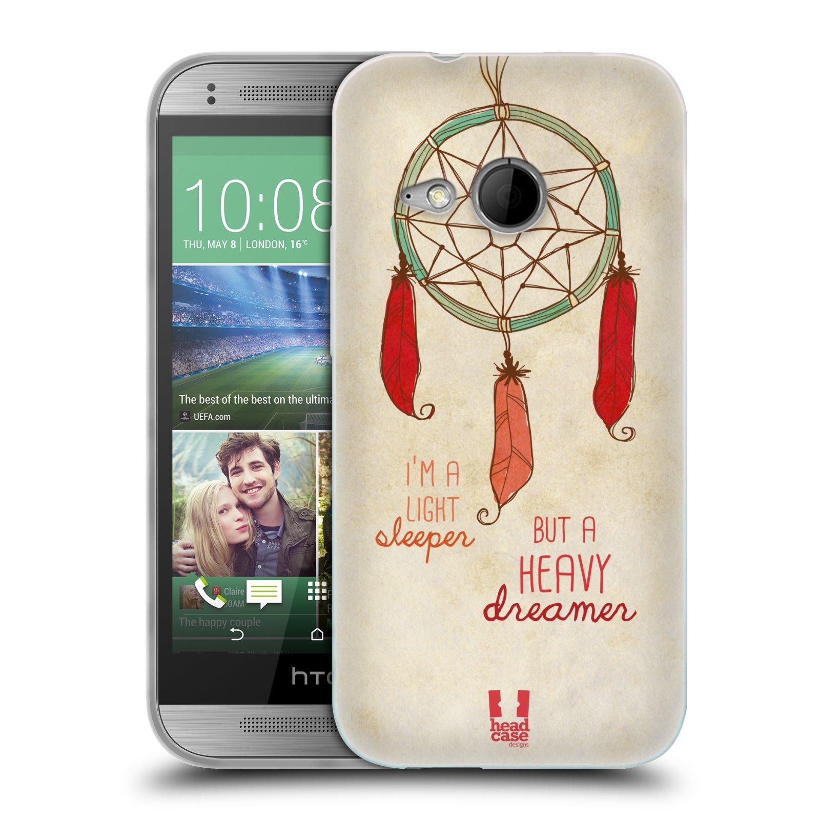 Silikonové pouzdro na mobil HTC ONE Mini 2 HEAD CASE LAPAČ HEAVY DREAMER (Silikonový kryt či obal na mobilní telefon HTC ONE Mini 2)