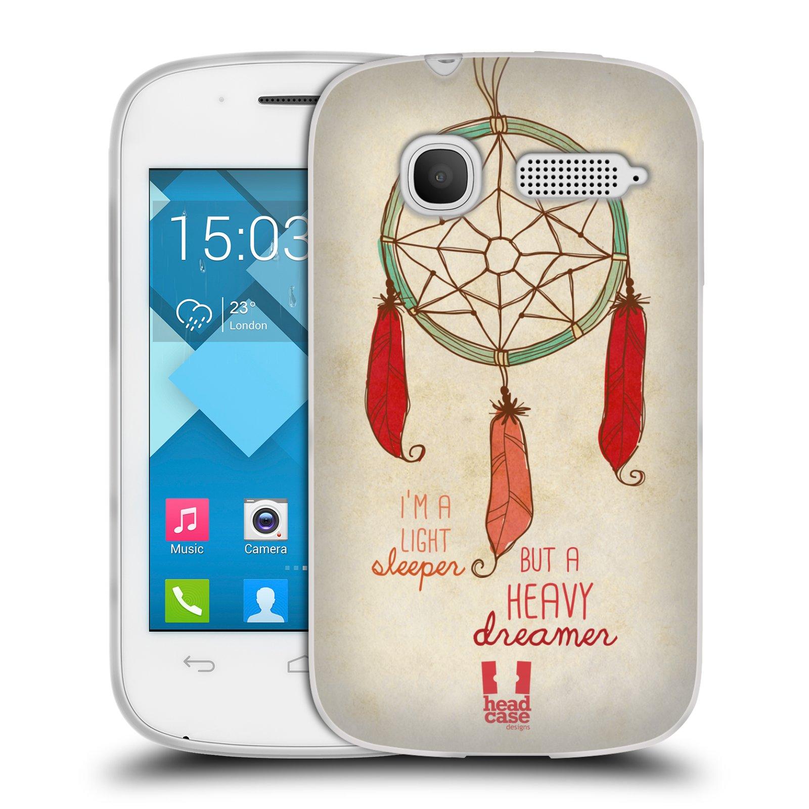 Silikonové pouzdro na mobil Alcatel One Touch Pop C1 HEAD CASE LAPAČ HEAVY DREAMER (Silikonový kryt či obal na mobilní telefon Alcatel OT-4015D POP C1)
