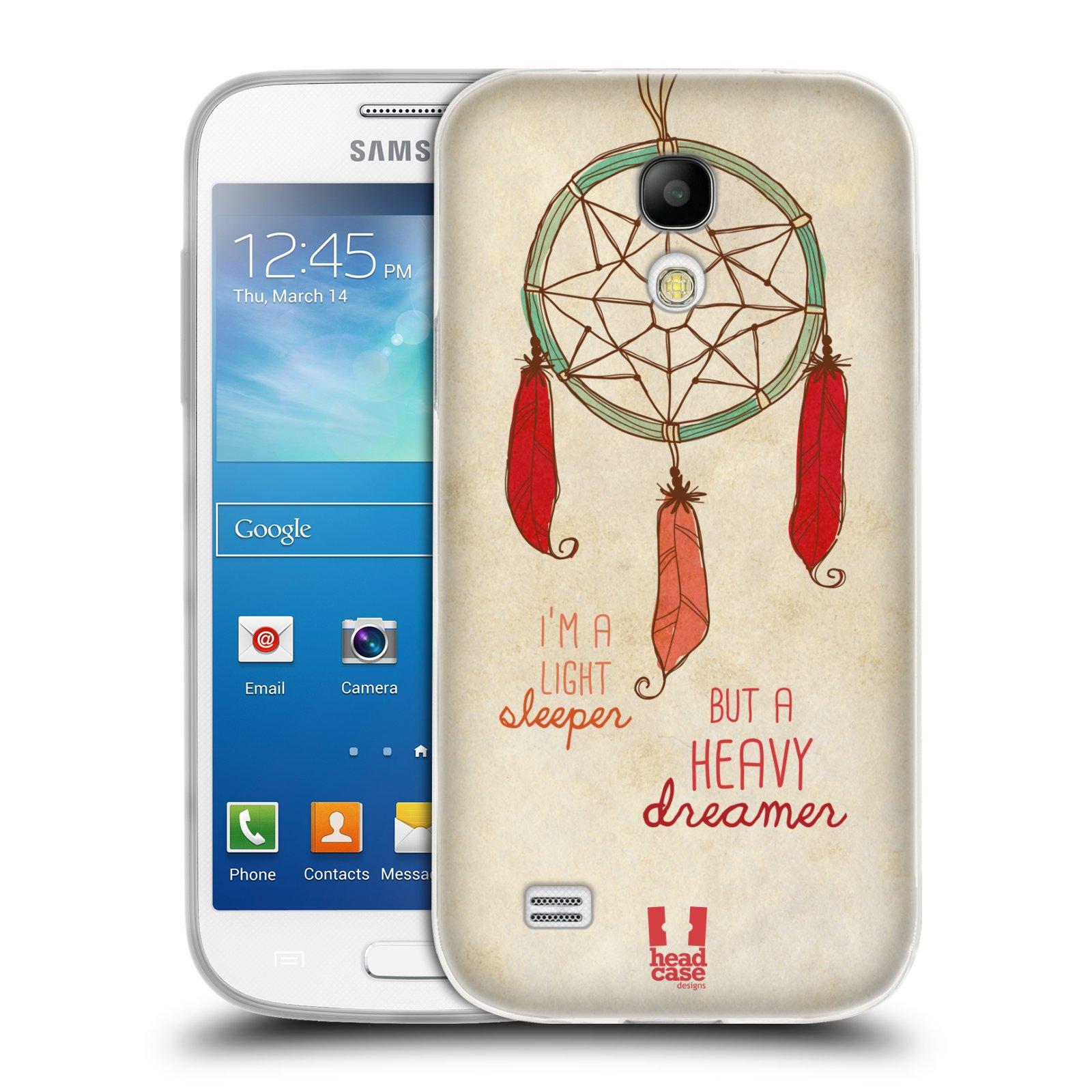Silikonové pouzdro na mobil Samsung Galaxy S4 Mini HEAD CASE LAPAČ HEAVY DREAMER (Silikonový kryt či obal na mobilní telefon Samsung Galaxy S4 Mini GT-i9195 / i9190 (nepasuje na verzi Black Edition))