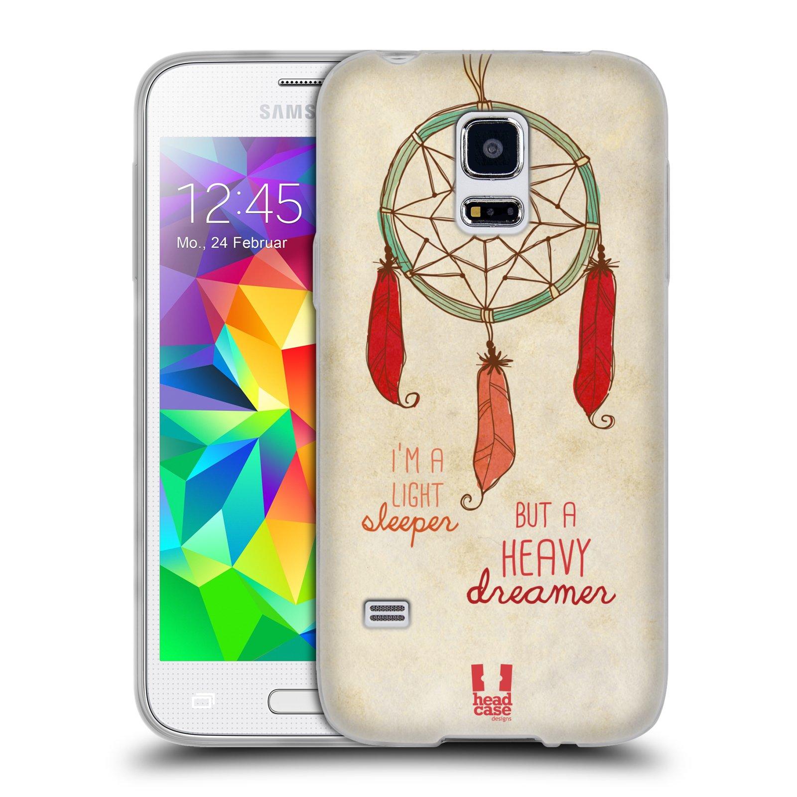 Silikonové pouzdro na mobil Samsung Galaxy S5 Mini HEAD CASE LAPAČ HEAVY DREAMER (Silikonový kryt či obal na mobilní telefon Samsung Galaxy S5 Mini SM-G800F)