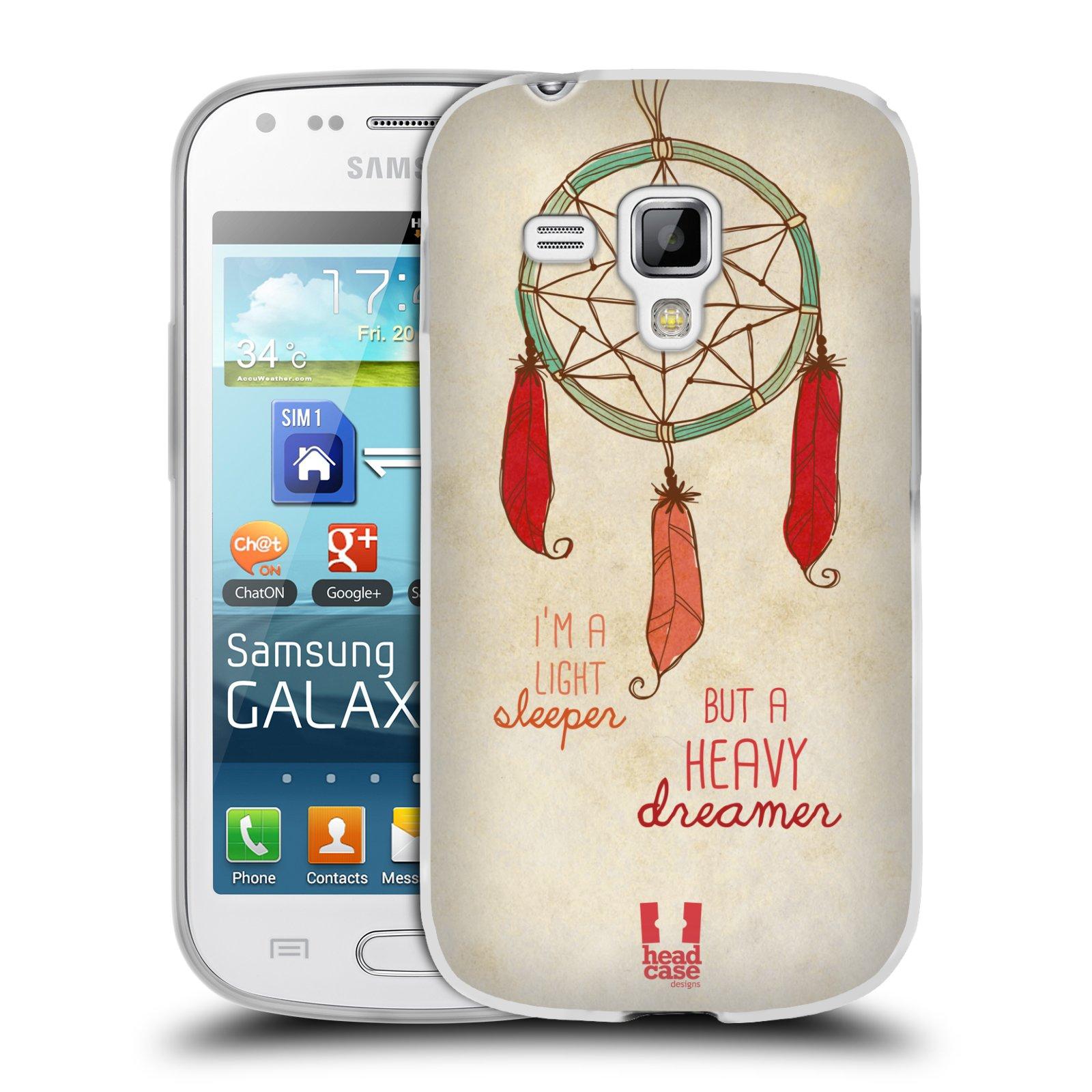 Silikonové pouzdro na mobil Samsung Galaxy Trend Plus HEAD CASE LAPAČ HEAVY DREAMER (Silikonový kryt či obal na mobilní telefon Samsung Galaxy Trend Plus GT-S7580)