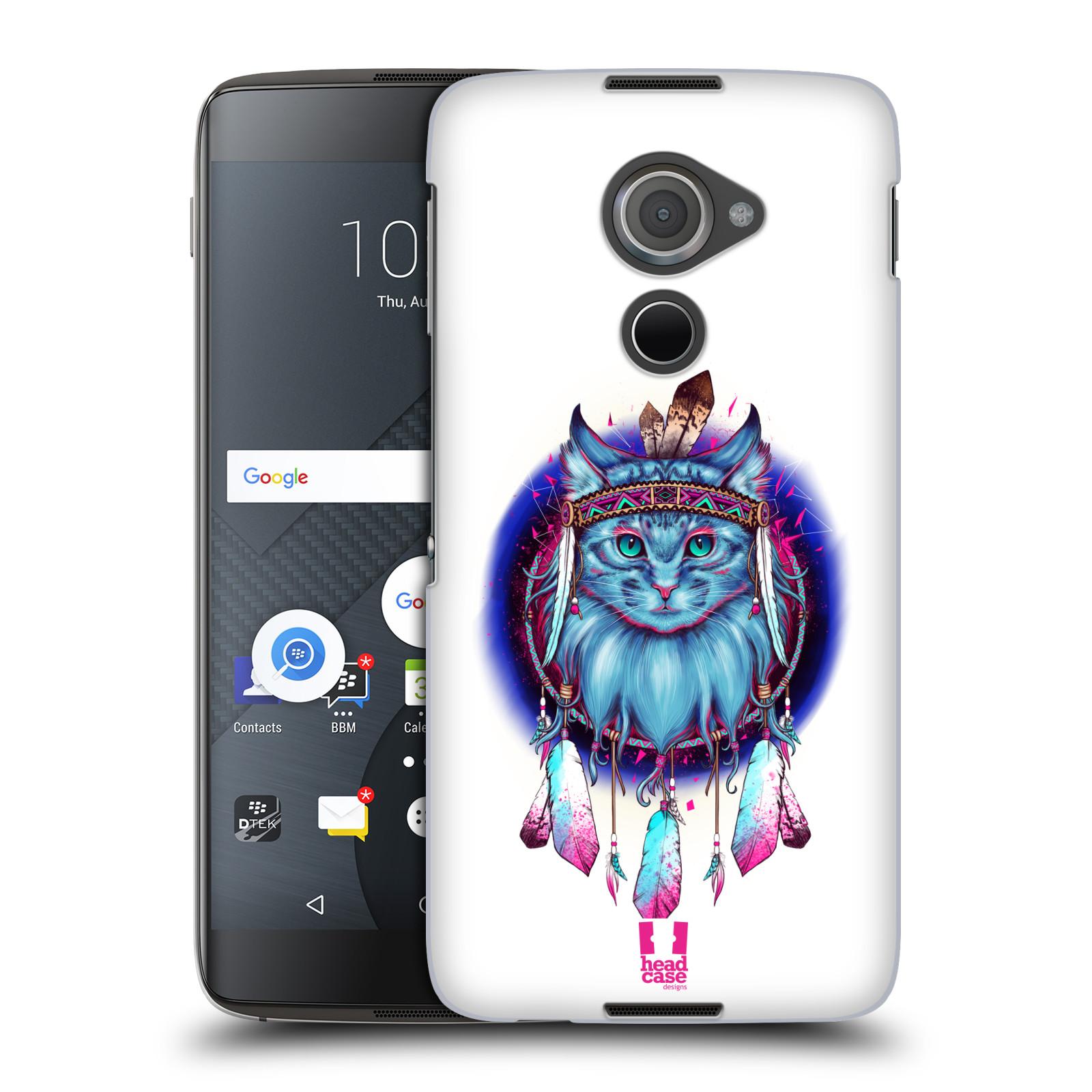 Plastové pouzdro na mobil Blackberry DTEK60 (Argon) - Head Case - Kočičí lapač (Plastový kryt či obal na mobilní telefon s motivem lapače snů pro Blackberry DTEK60 (Argon))
