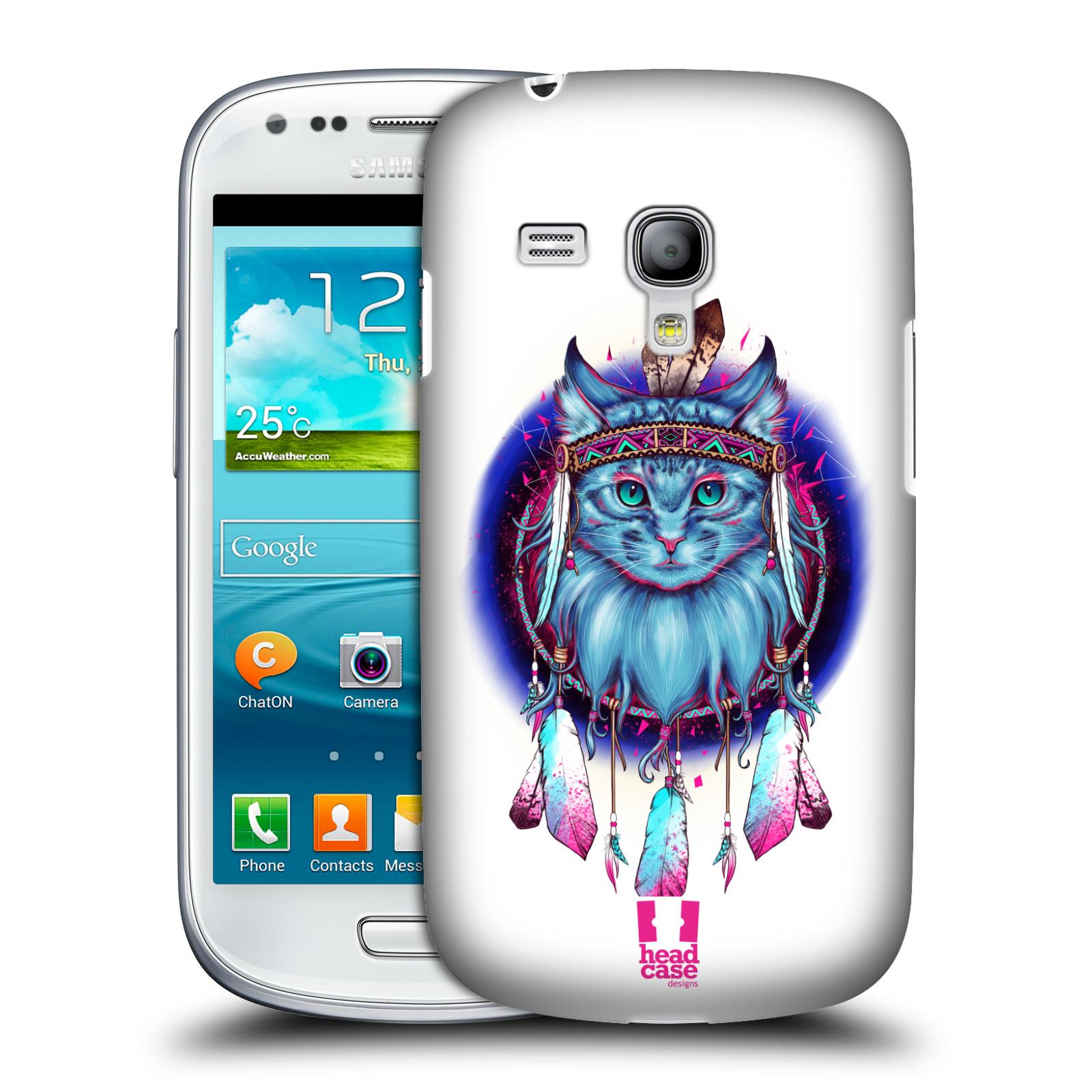 Silikonové pouzdro na mobil Samsung Galaxy S III Mini VE - Head Case - Kočičí lapač (Plastový kryt či obal na mobilní telefon s motivem lapače snů pro Samsung Galaxy S3 Mini VE GT-i8200)