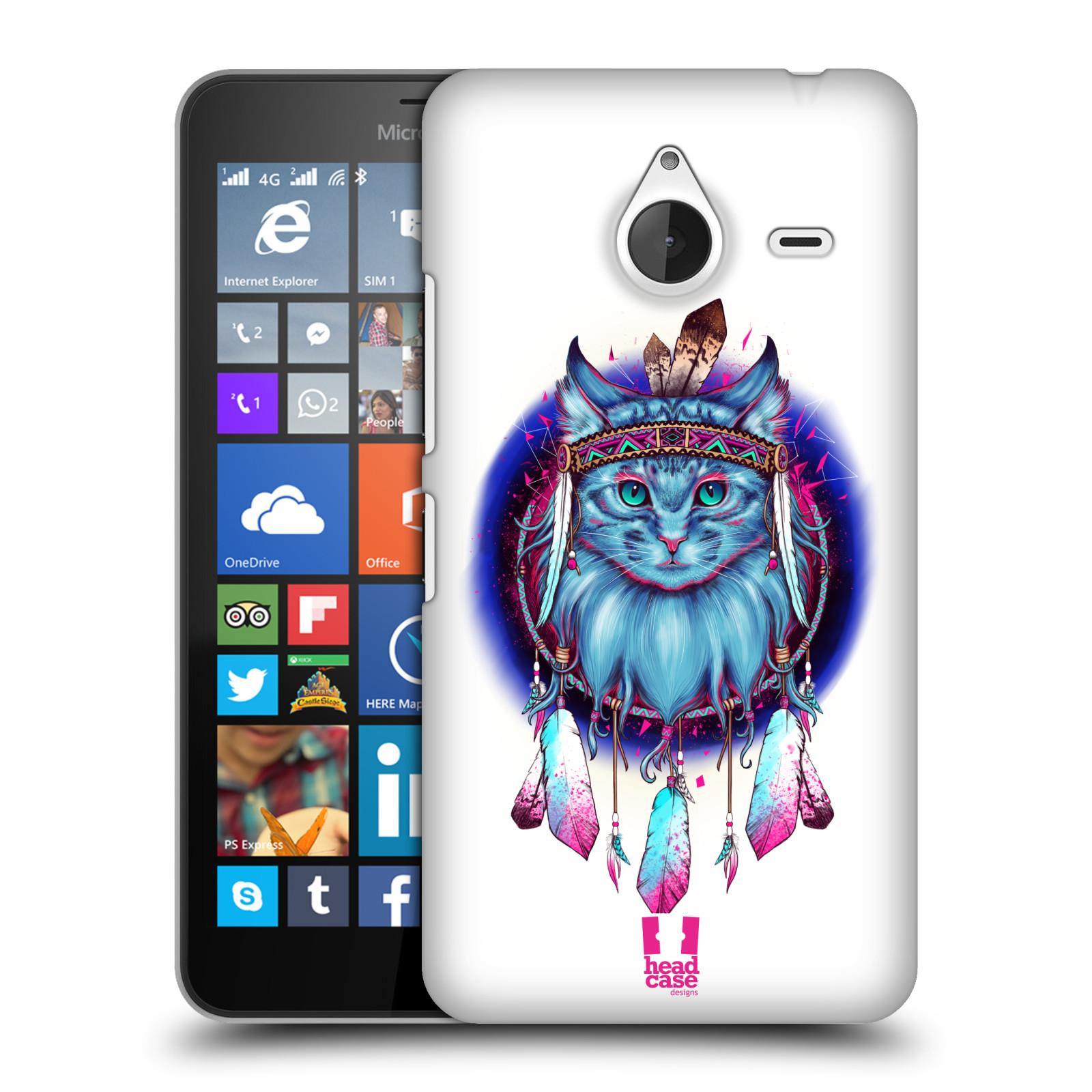 Plastové pouzdro na mobil Microsoft Lumia 640 XL - Head Case - Kočičí lapač (Plastový kryt či obal na mobilní telefon s motivem lapače snů pro Microsoft Lumia 640 XL)