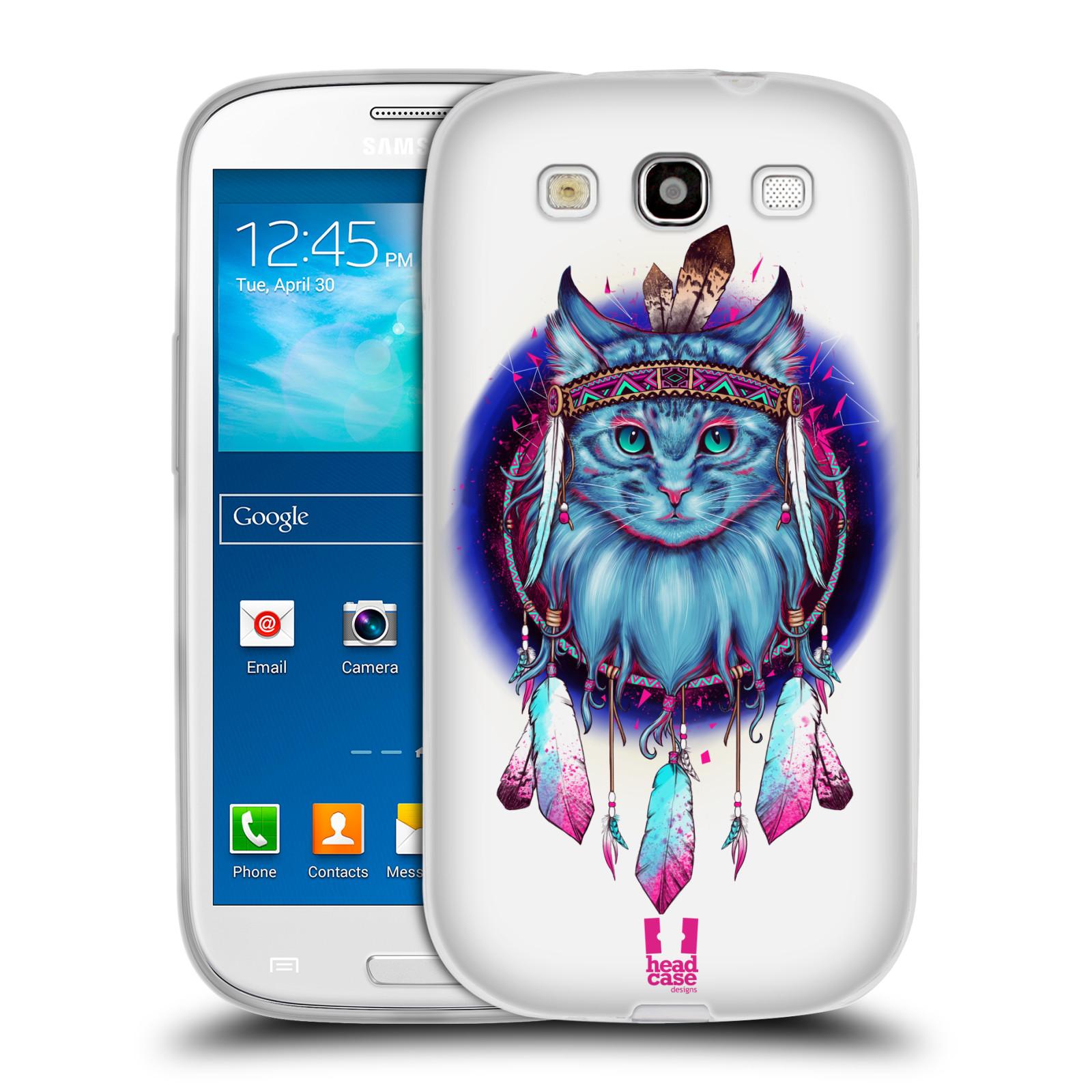 Silikonové pouzdro na mobil Samsung Galaxy S3 Neo - Head Case - Kočičí lapač