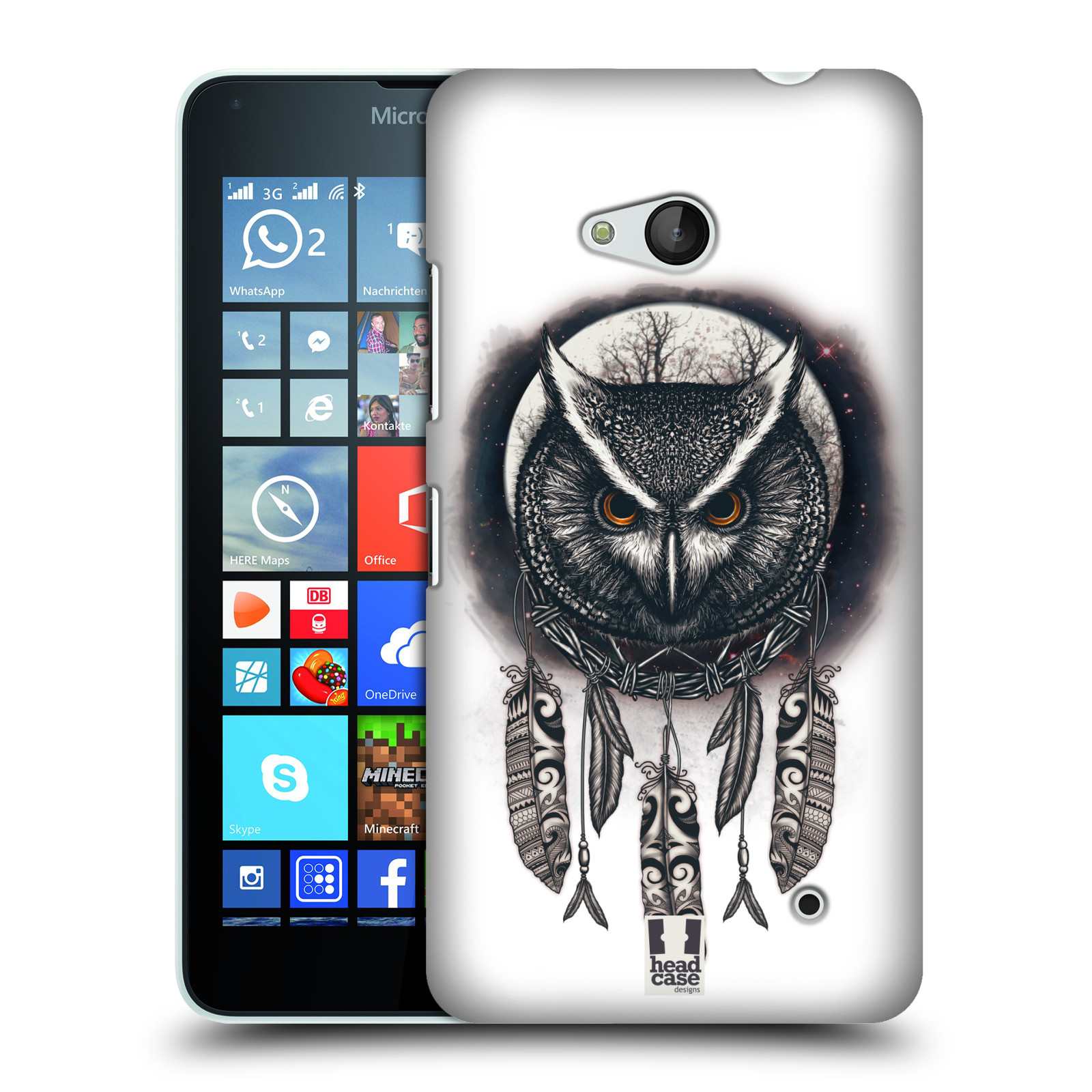 Plastové pouzdro na mobil Microsoft Lumia 640 - Head Case - Soví lapač