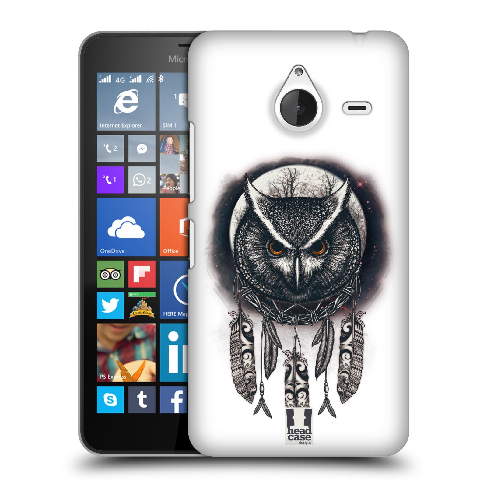 Plastové pouzdro na mobil Microsoft Lumia 640 XL - Head Case - Soví lapač (Plastový kryt či obal na mobilní telefon s motivem lapače snů pro Microsoft Lumia 640 XL)