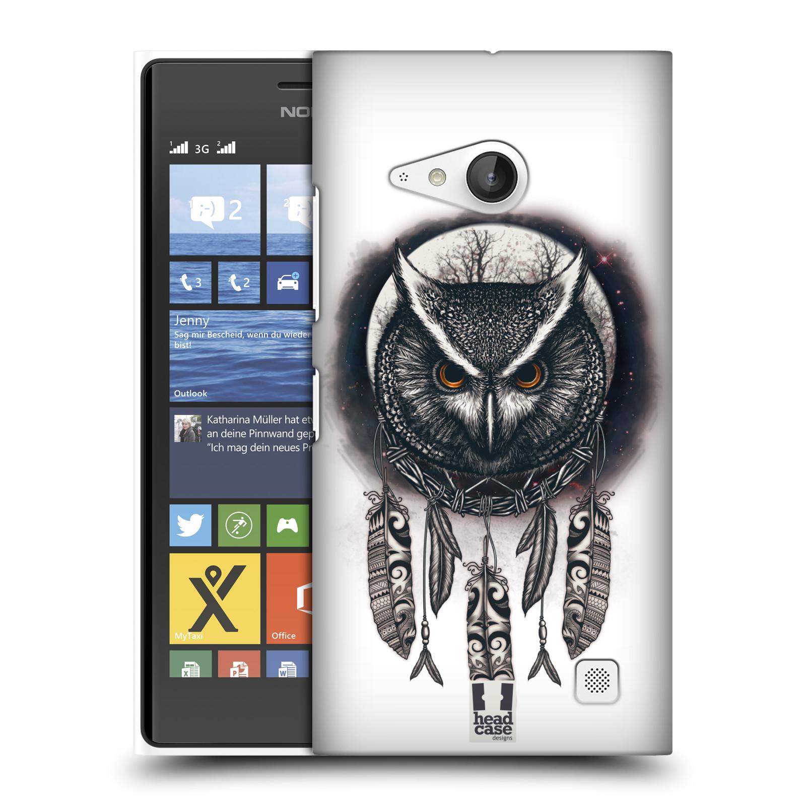Plastové pouzdro na mobil Nokia Lumia 730 Dual SIM - Head Case - Soví lapač