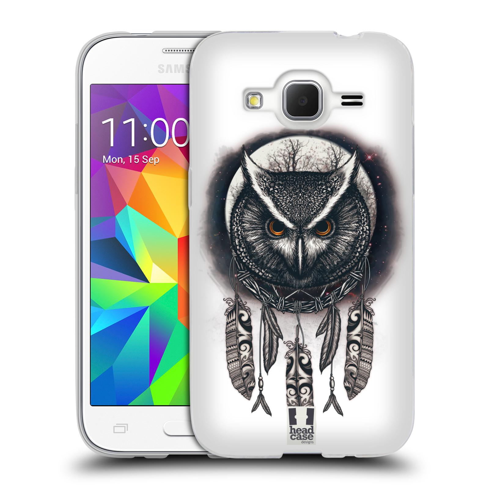 Silikonové pouzdro na mobil Samsung Galaxy Core Prime LTE - Head Case - Soví lapač