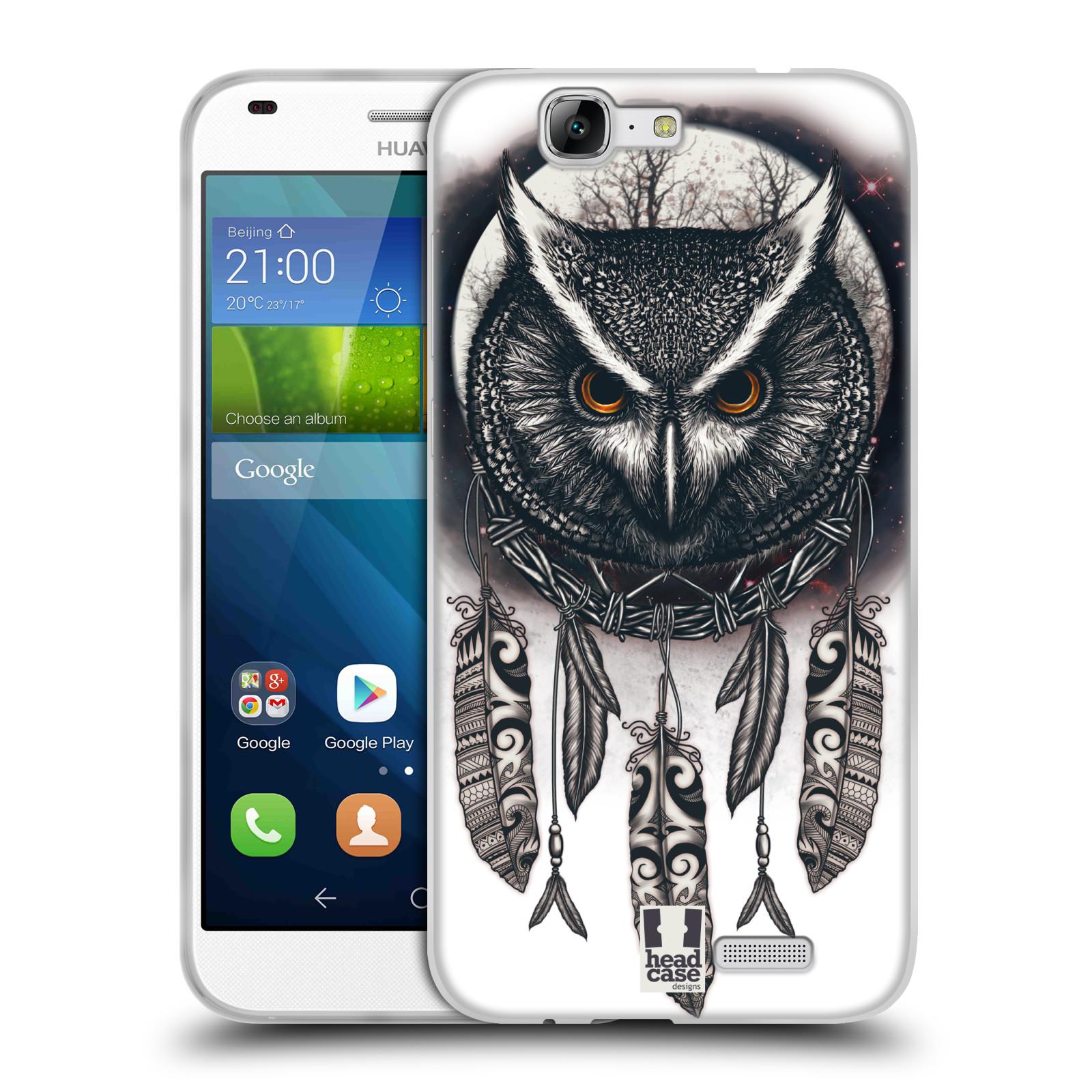 Silikonové pouzdro na mobil Huawei Ascend G7 - Head Case - Soví lapač