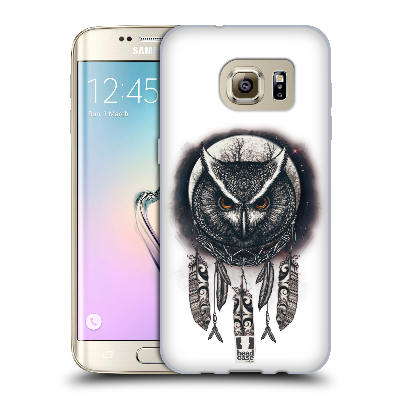 Silikonové pouzdro na mobil Samsung Galaxy S7 Edge - Head Case - Soví lapač