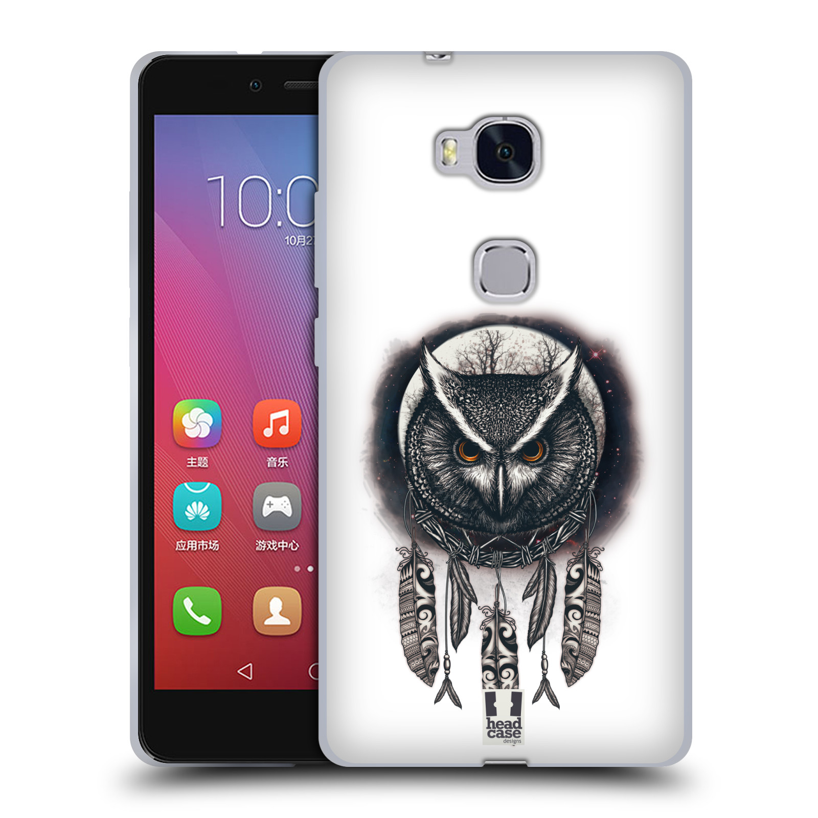 Silikonové pouzdro na mobil Honor 5X - Head Case - Soví lapač