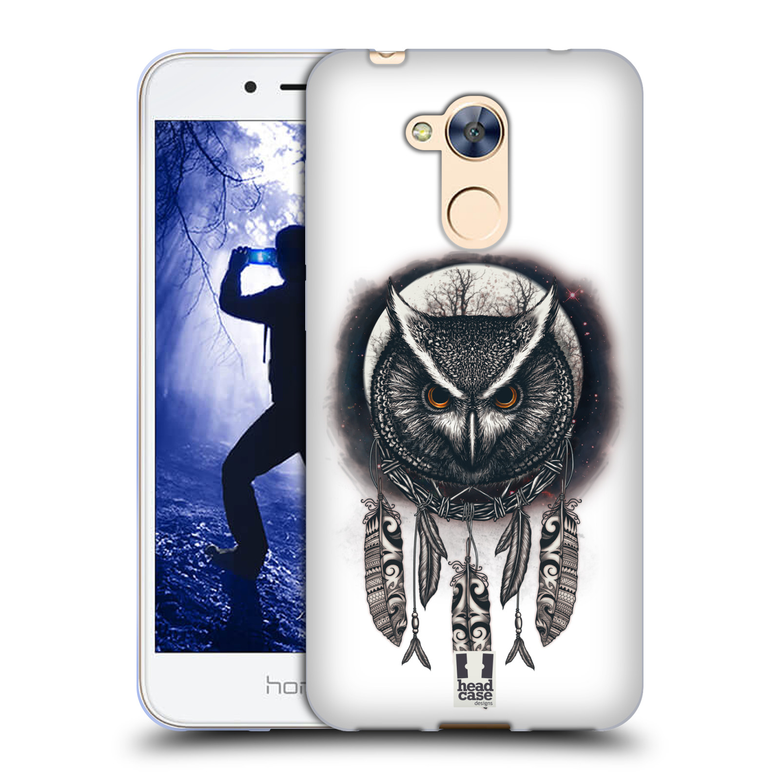 Silikonové pouzdro na mobil Honor 6A - Head Case - Soví lapač
