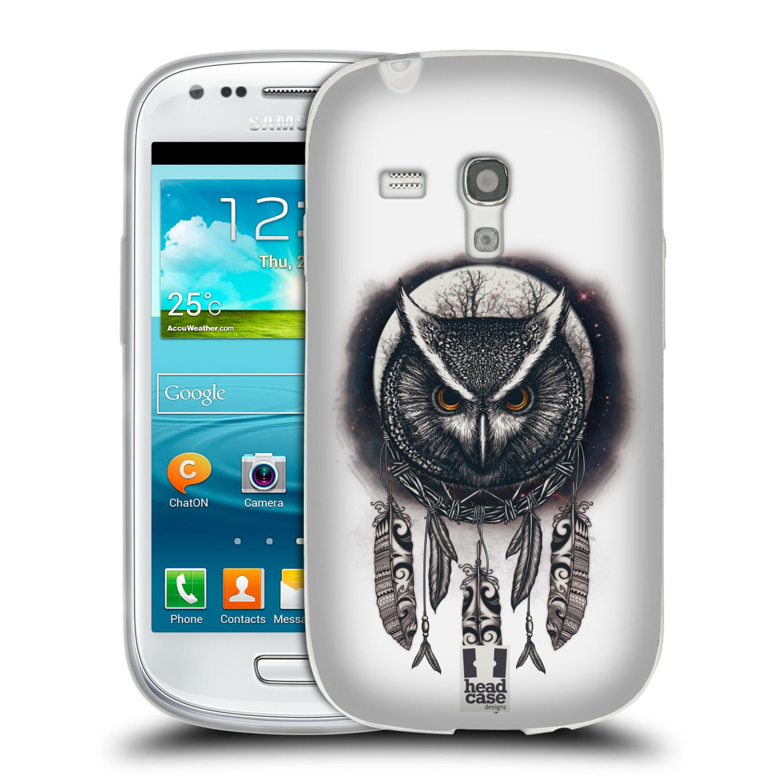 Silikonové pouzdro na mobil Samsung Galaxy S III Mini - Head Case - Soví lapač