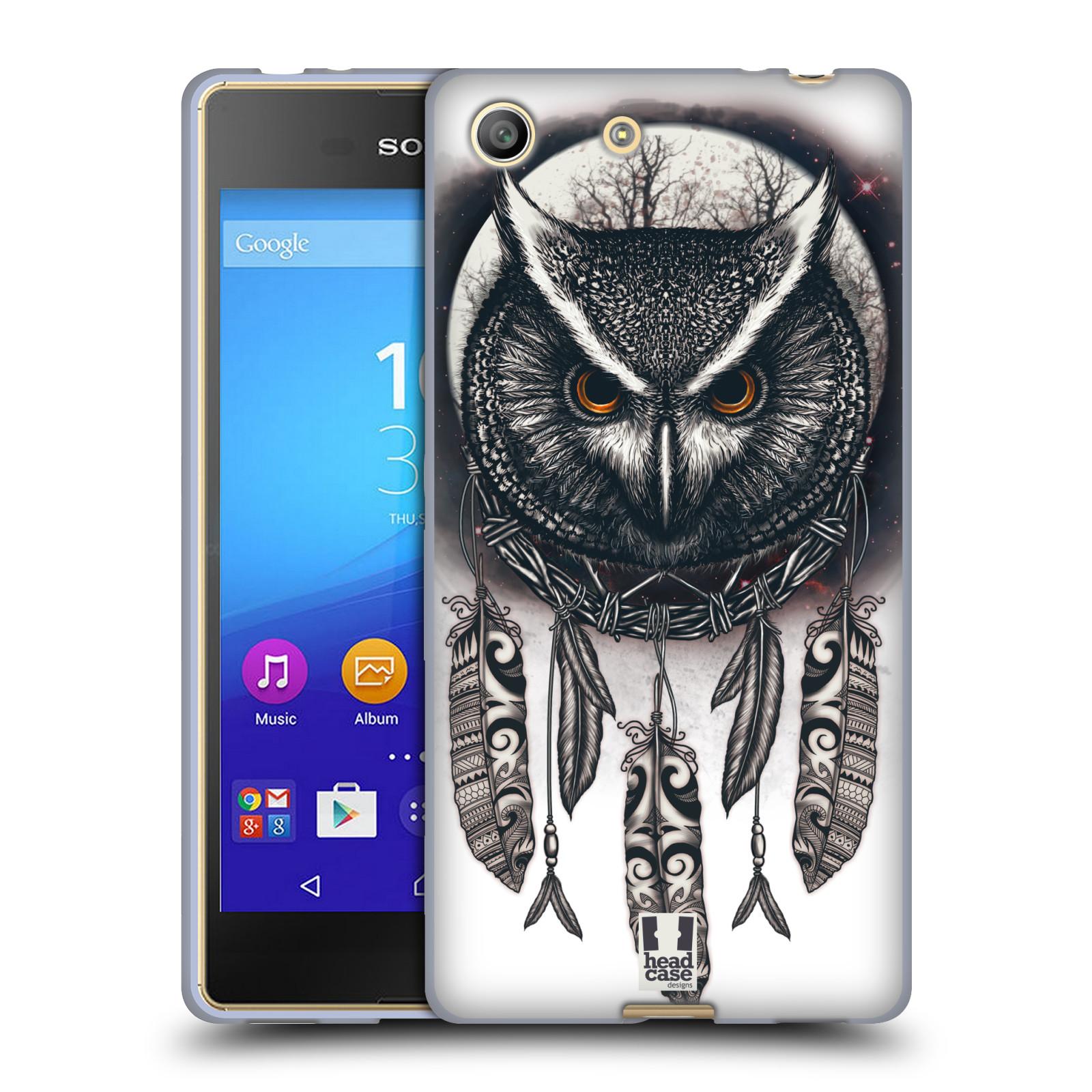 Silikonové pouzdro na mobil Sony Xperia M5 - Head Case - Soví lapač